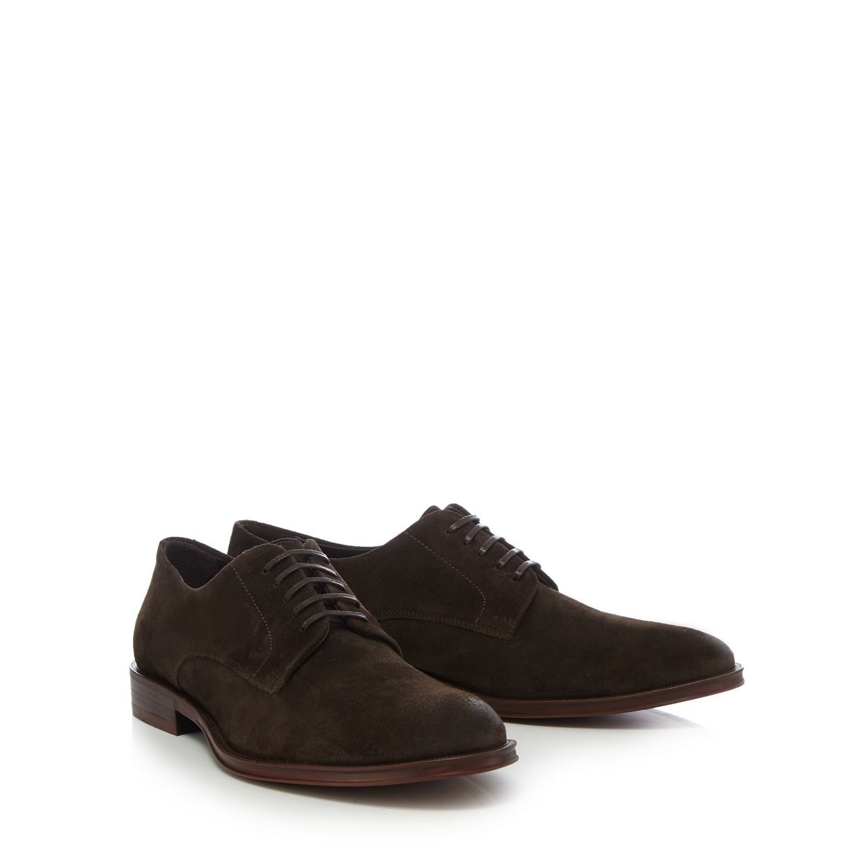 Hammond & Co. by Patrick Grant Brown suede 'Albany' derby shoes