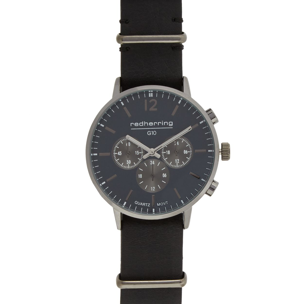 Red Herring Men's black analogue watch