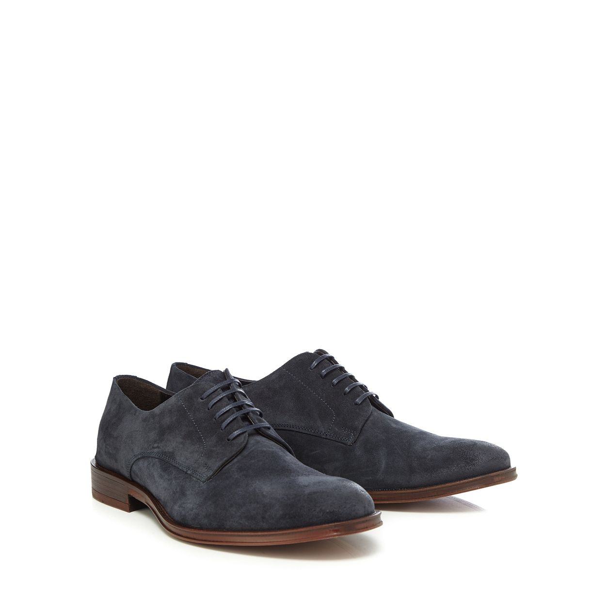 Hammond & Co. by Patrick Grant Blue Navy suede 'Albany' shoes