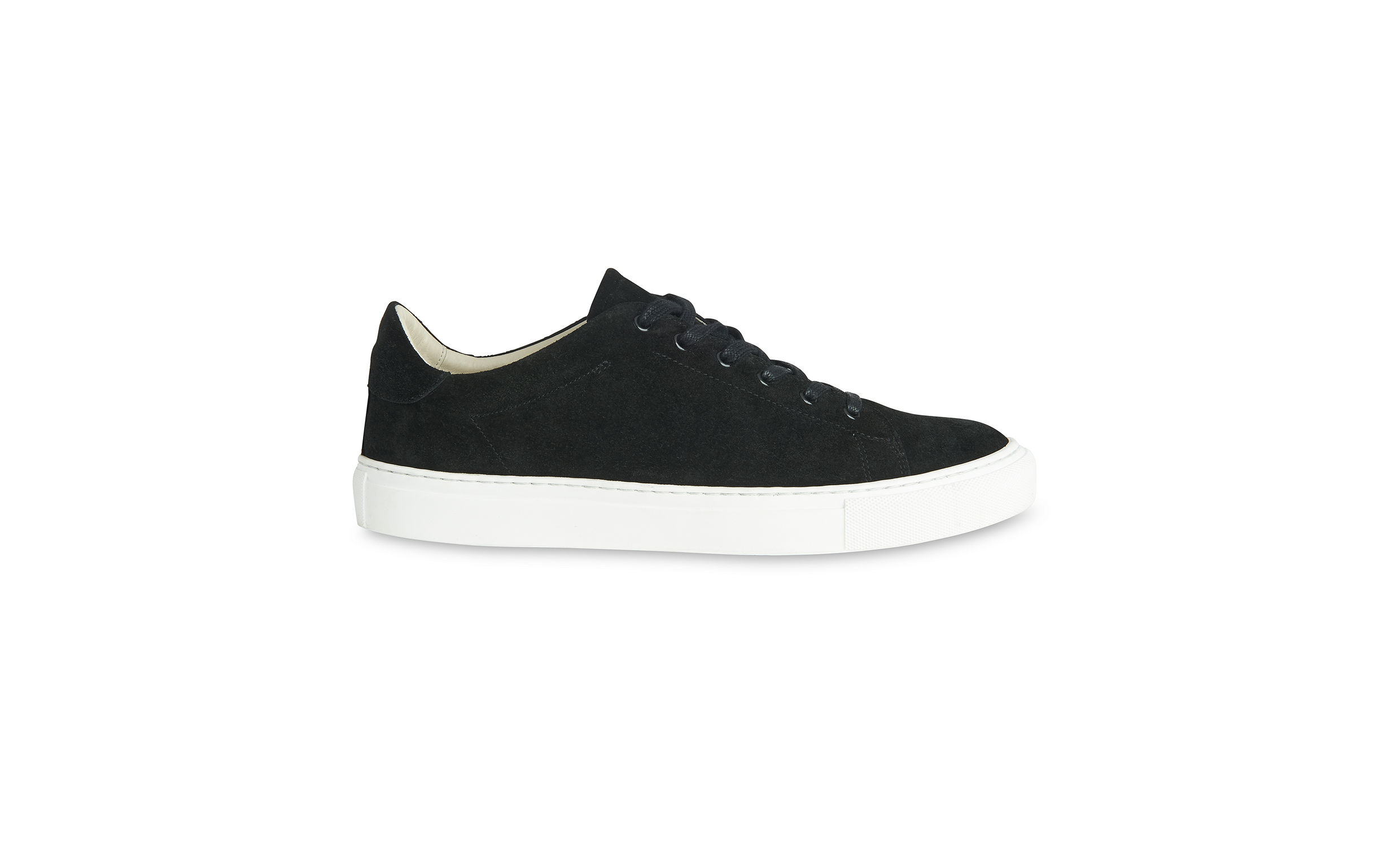 Whistles Black Low top suede trainers