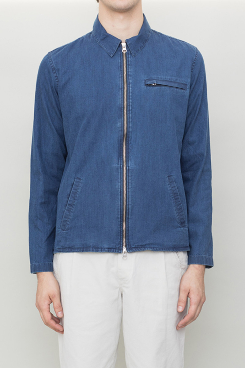 Folk Zip Shirt Jacket - Worn Navy