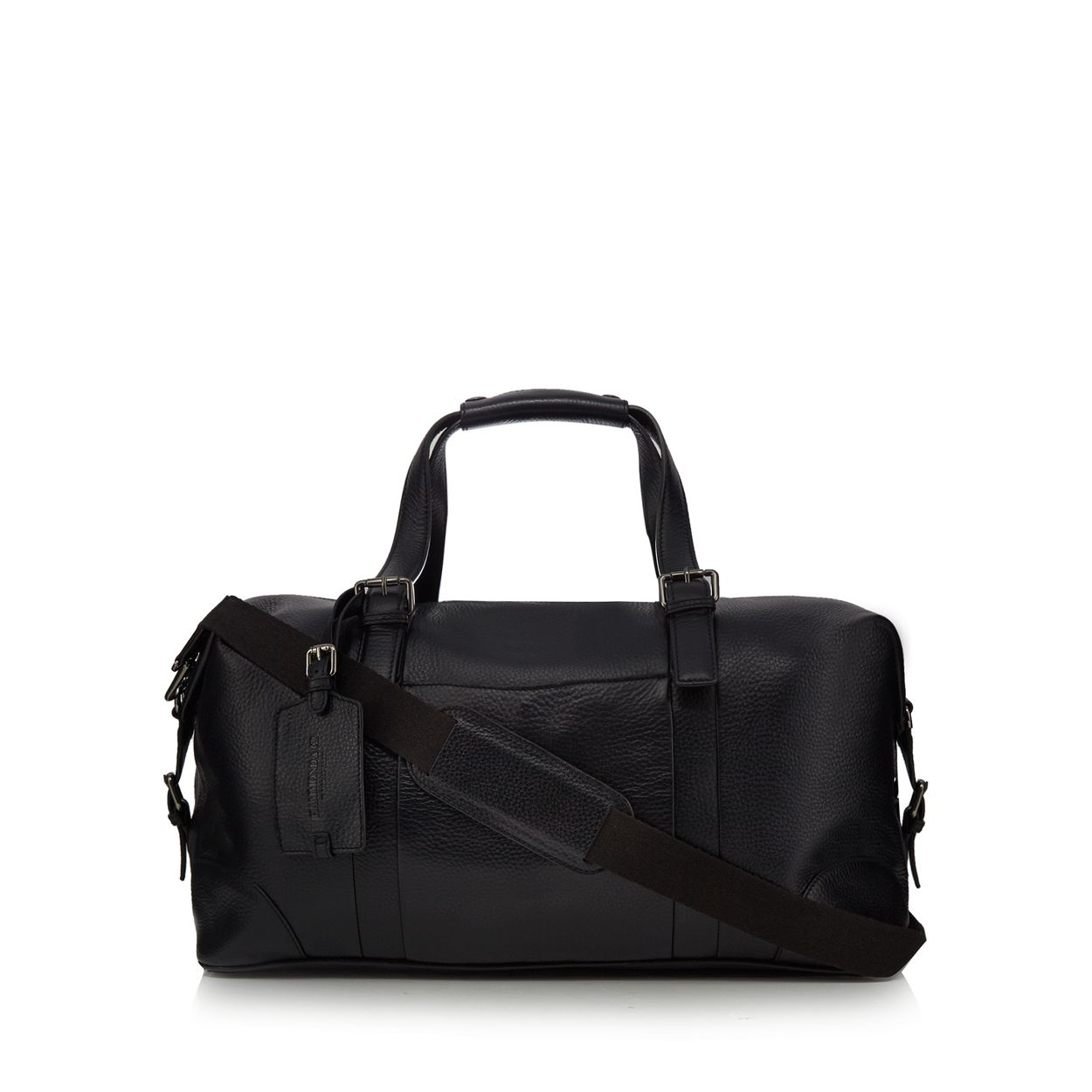 Hammond & Co. by Patrick Grant Black grained leather holdall bag