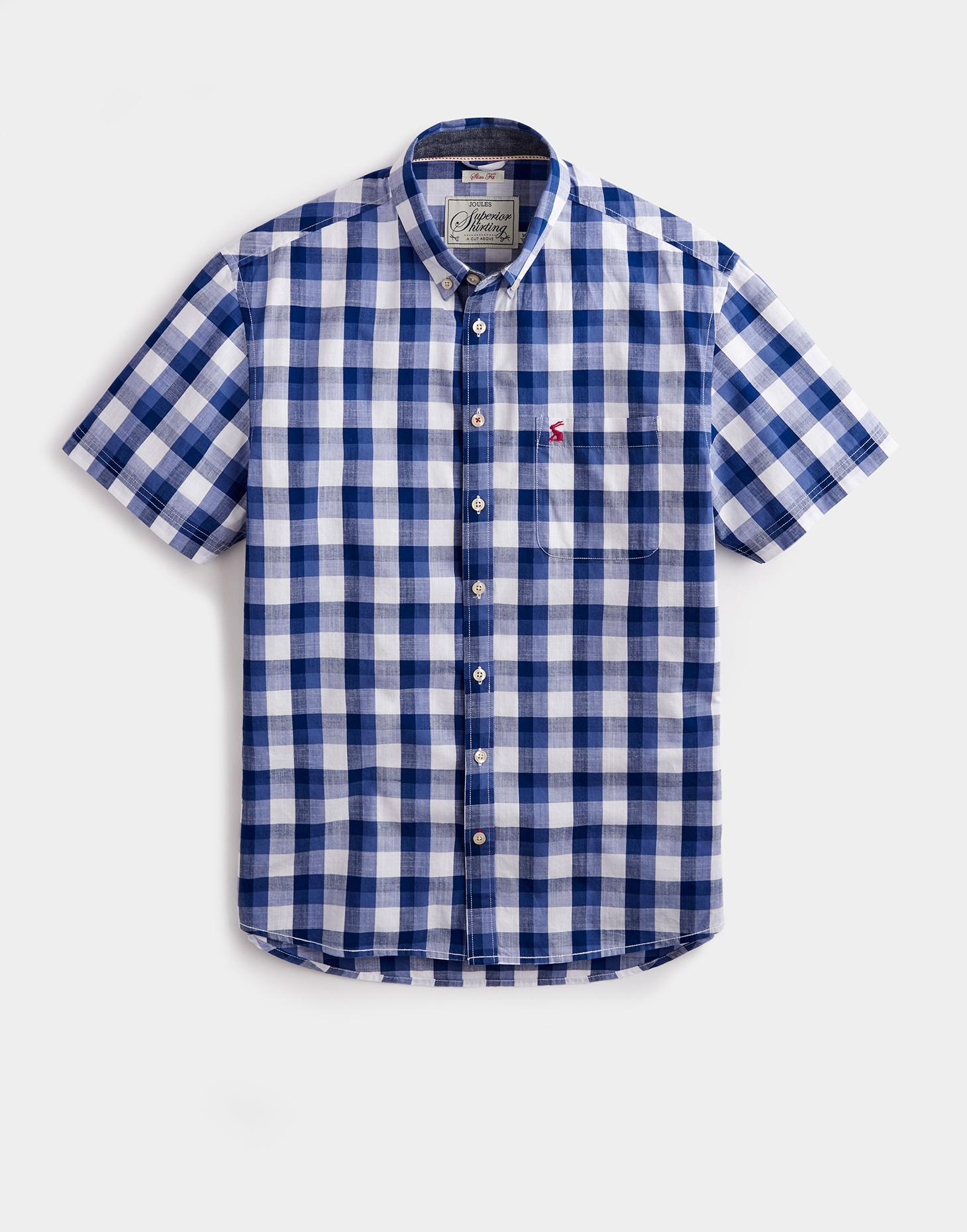 Joules Ink Blue Gingham WILSON Classic Fit Shirt