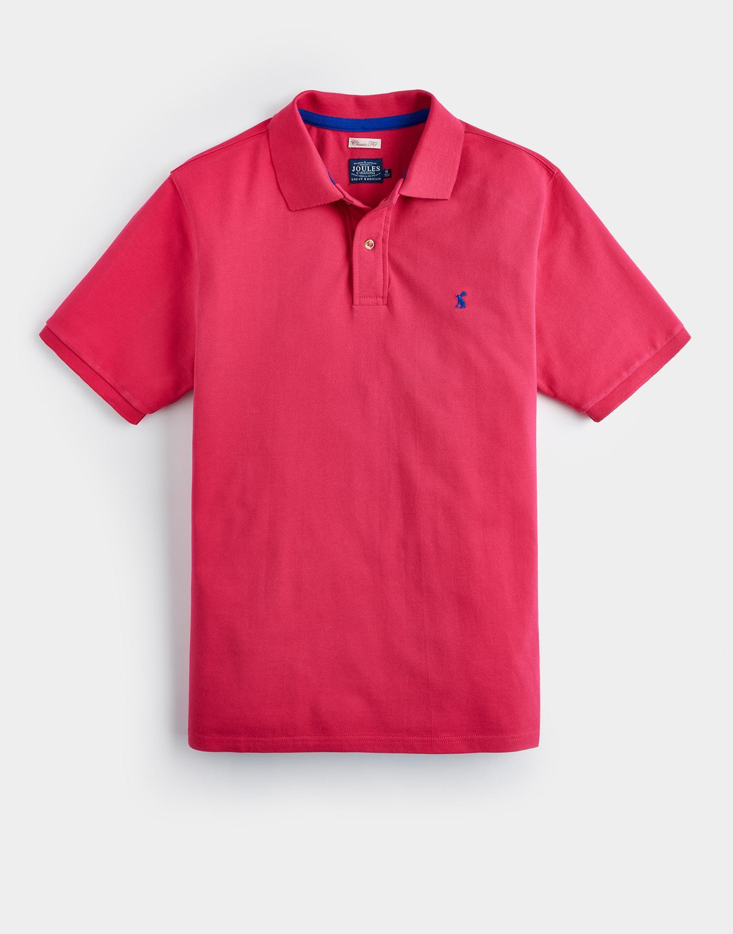Joules Dark Raspberry WOODY CLASSIC FIT Polo Shirt