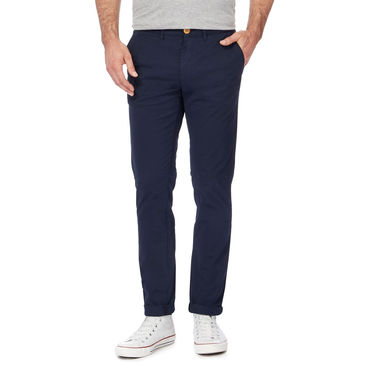 Racing Green Navy chino trousers