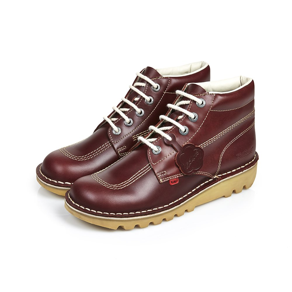 Kickers Dark Red Kick Hi Classic