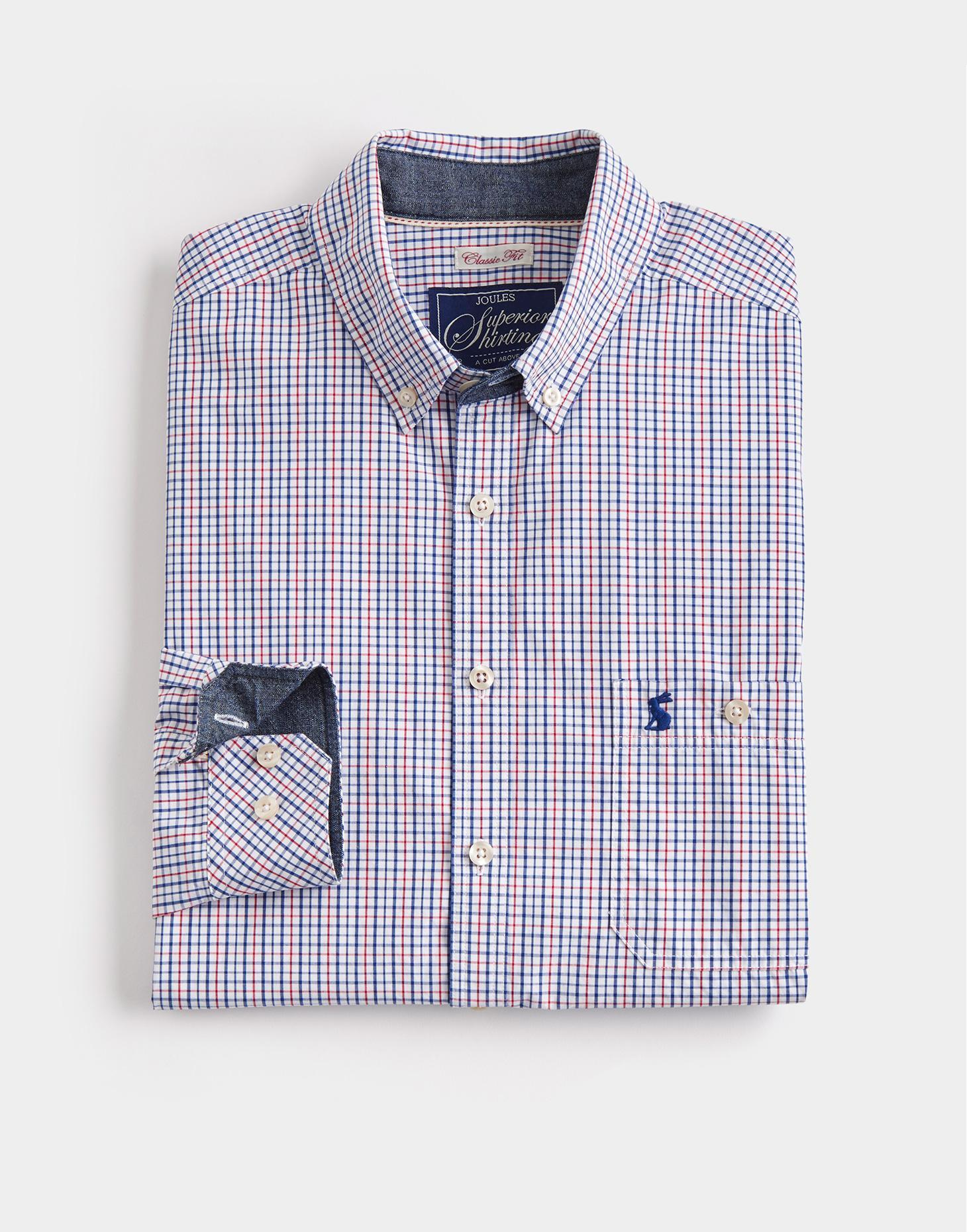 Joules Chalk Mini Check HEWNEY Classic Fit Shirt