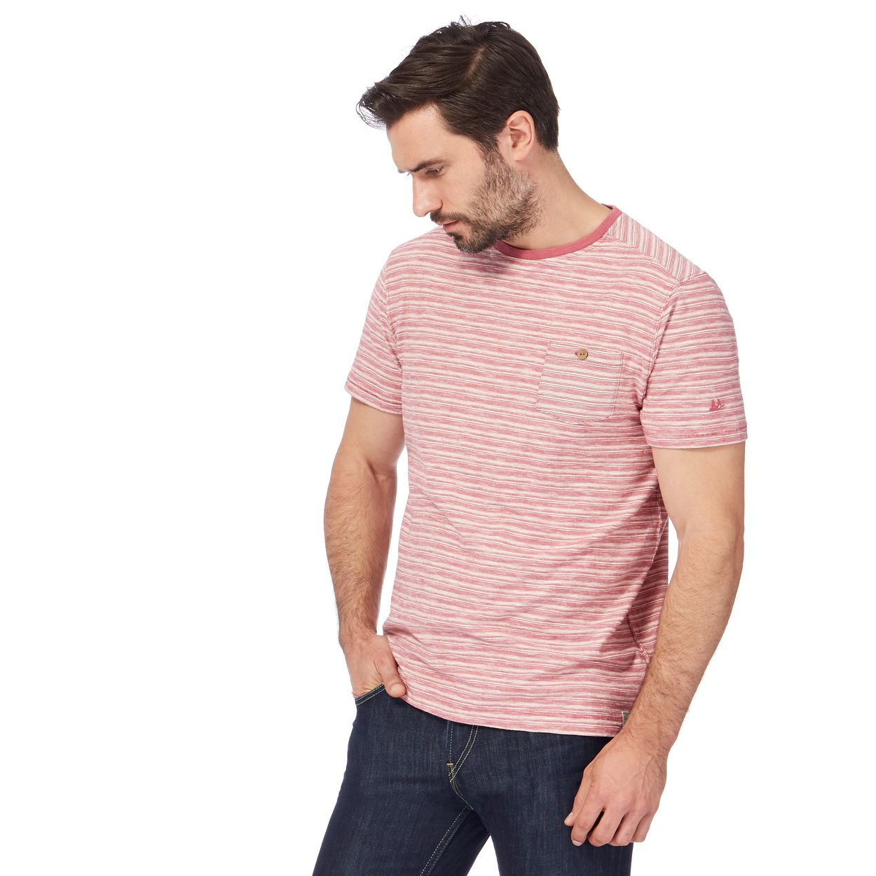 Mantaray Pink striped t-shirt