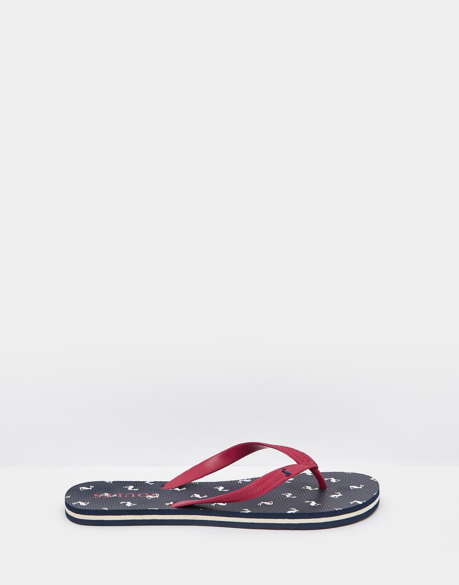 Joules Navy all over print Hare 124279 Mens Flip Flop