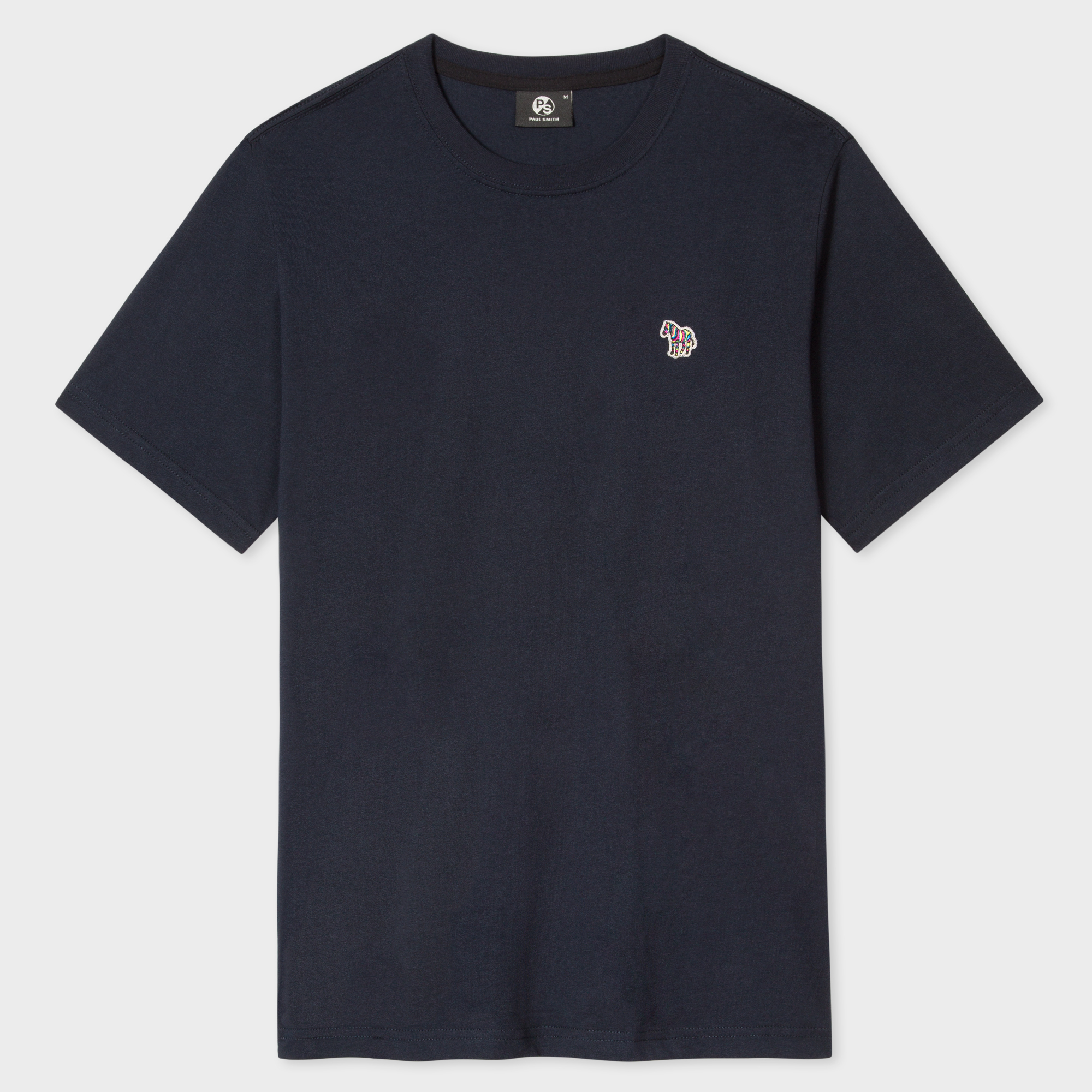 Paul Smith Men's Navy Organic-Cotton Zebra Logo T-Shirt