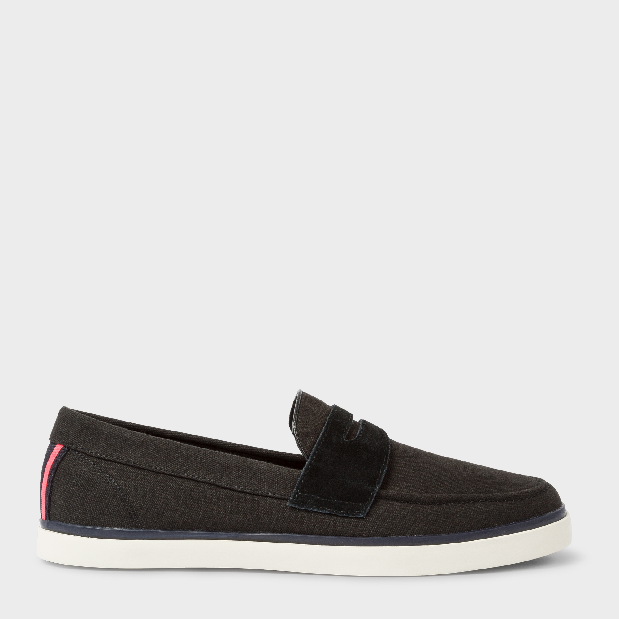 Paul Smith Men's Black Canvas 'Cheree' Slip-On Trainers