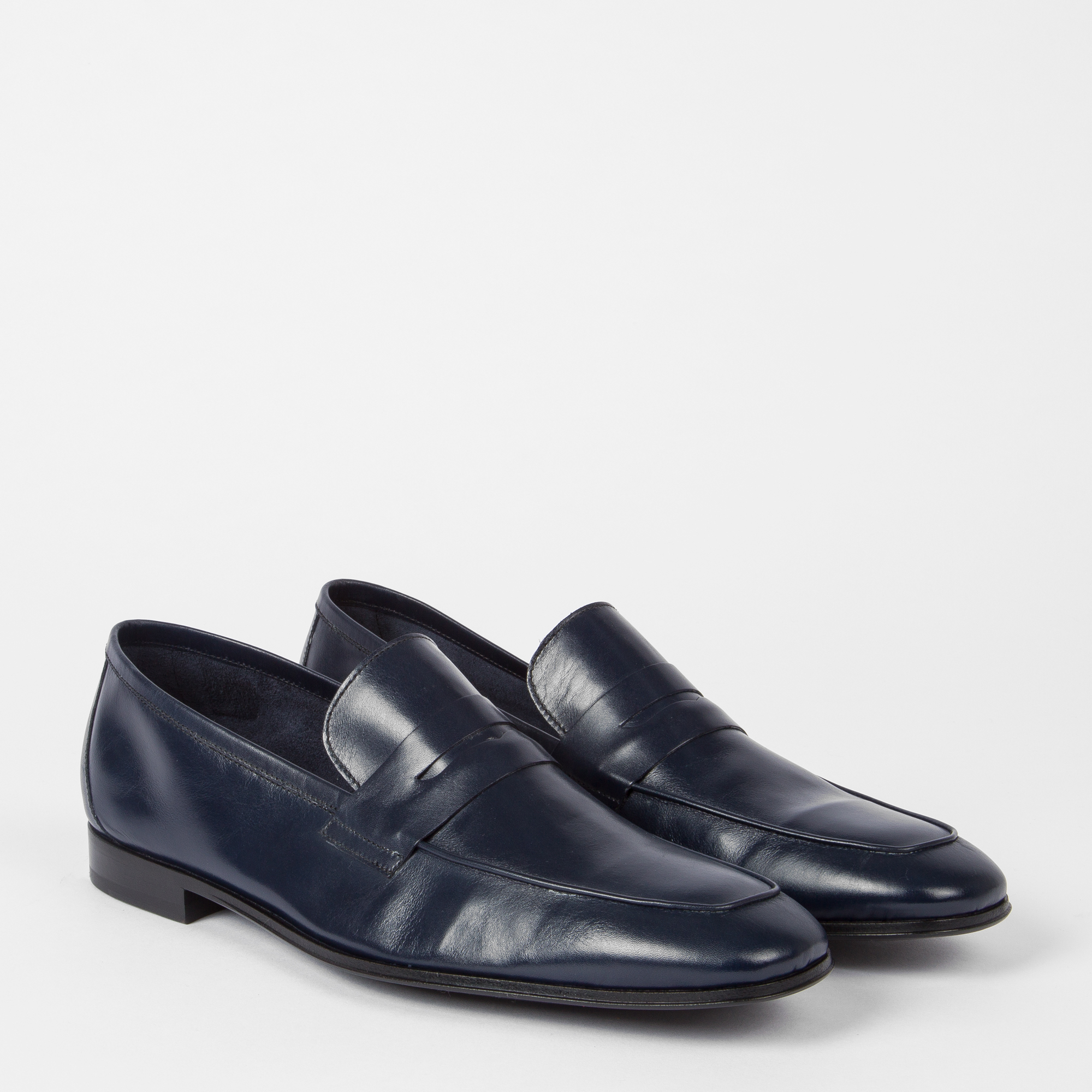 9e6321d16e1 Men s Navy Leather  Glynn  Penny Loafers ... — Thread