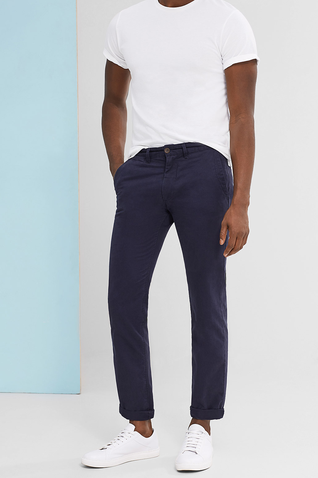 Esprit Straight Fit Navy Chino
