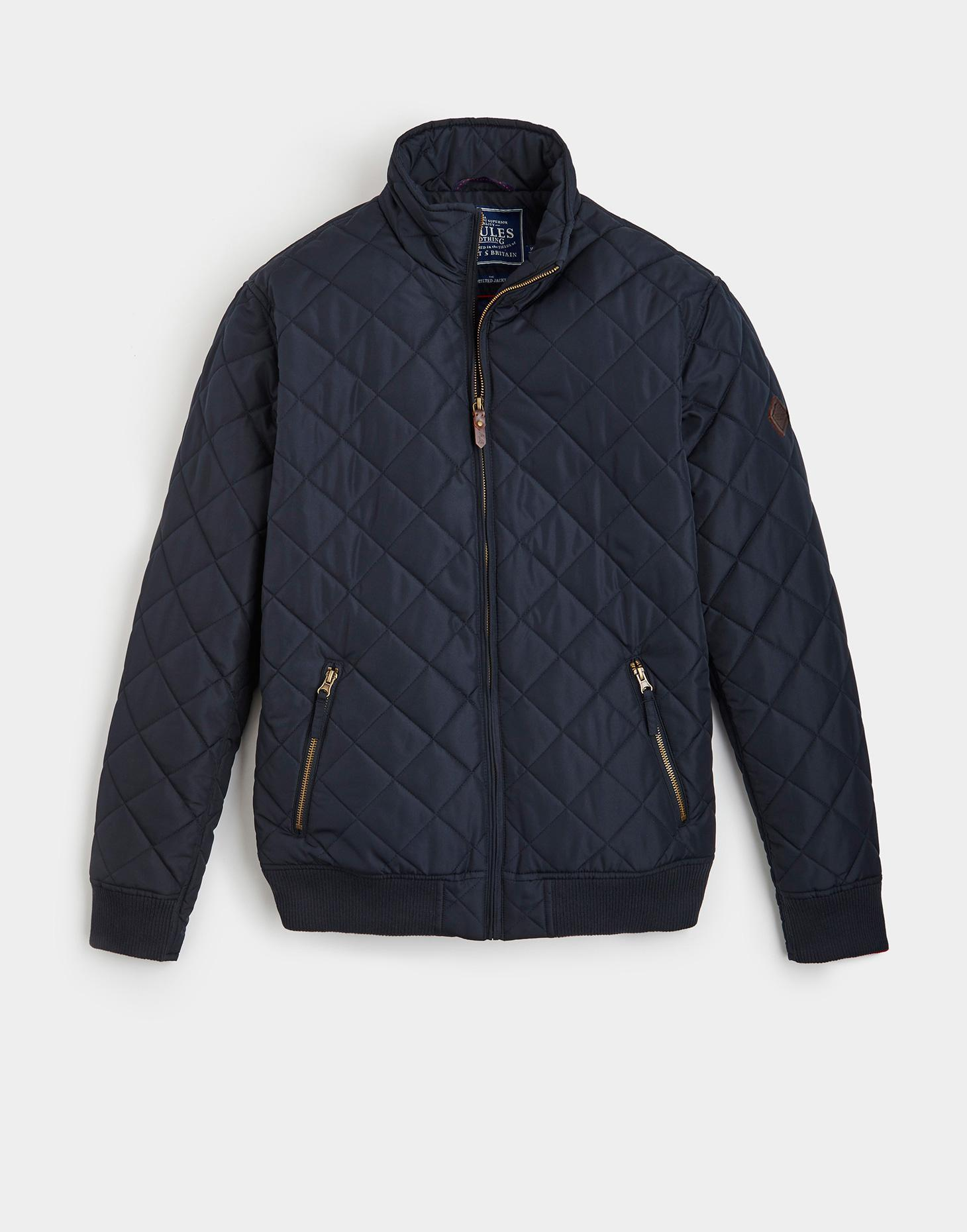 Joules Marine Navy HANBURY Quilted Bomber Jacket
