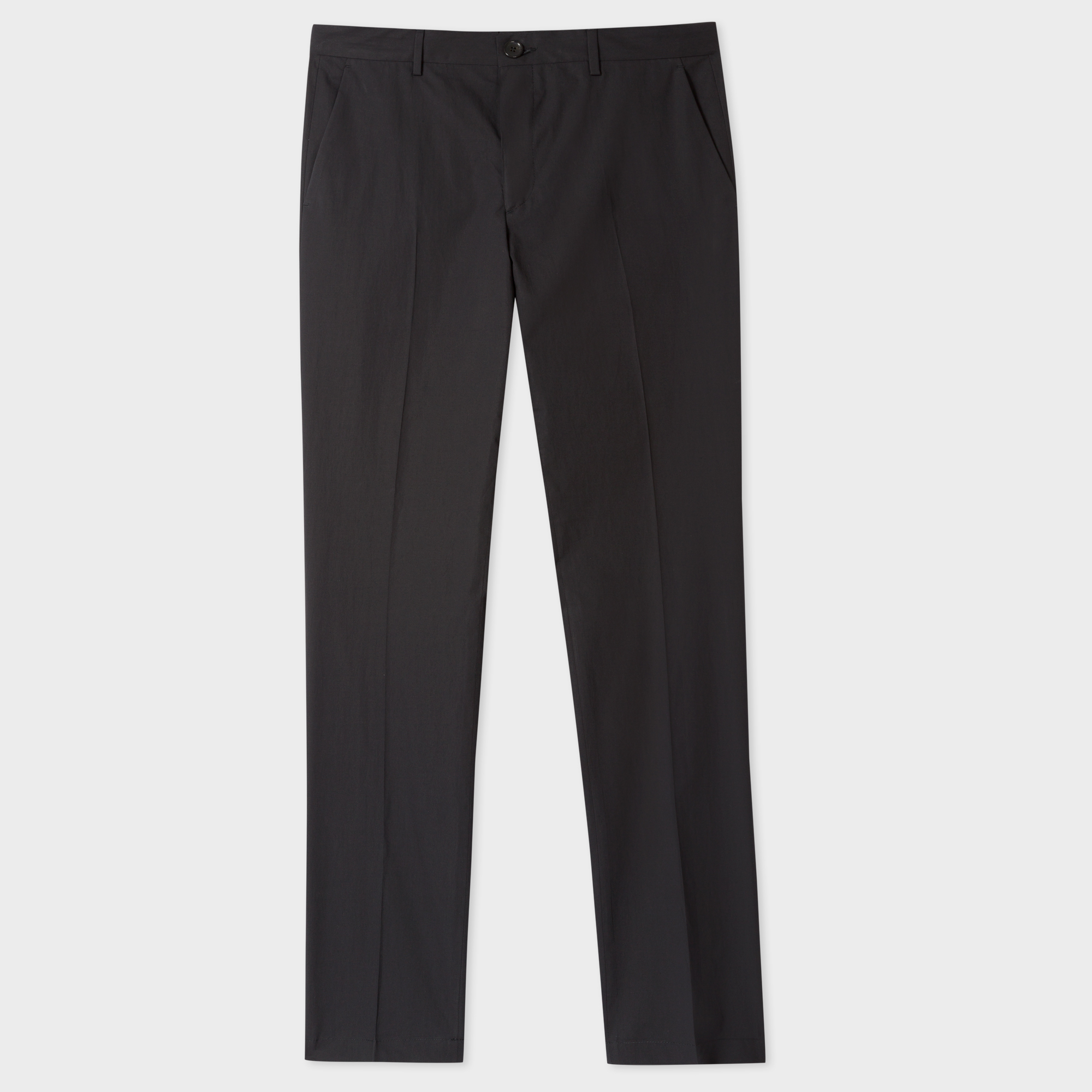 Paul Smith Men's Slim-Fit Black Lightweight Cotton Chinos
