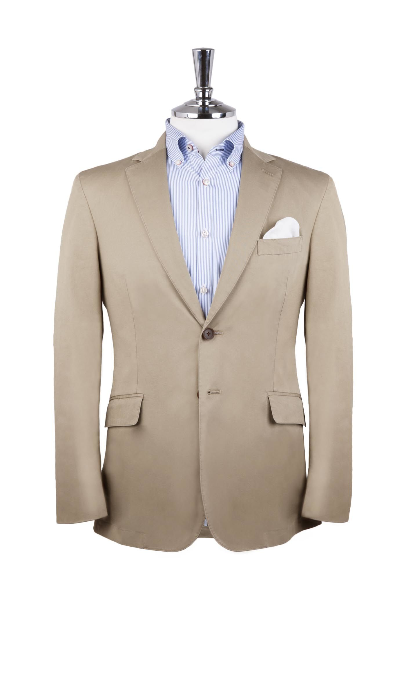T.M.Lewin Lindfield Camel Italian Stretch Cotton Jacket