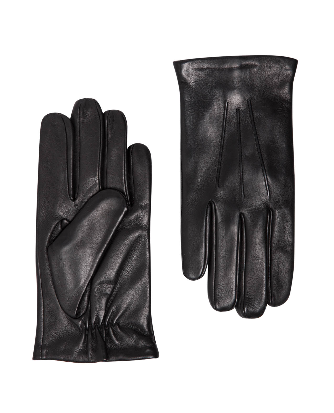 T.M.Lewin Black Leather Gloves