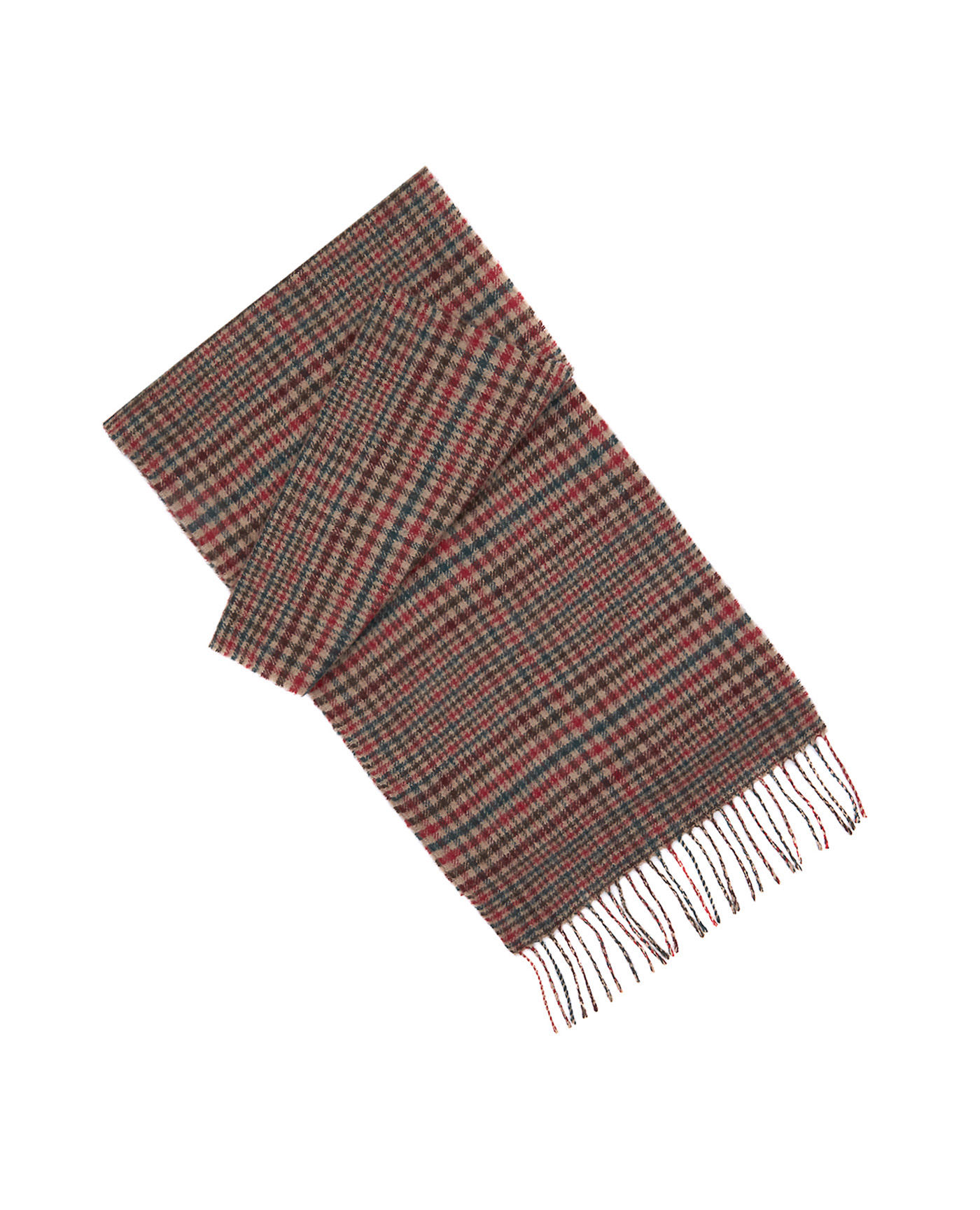 T.M.Lewin Orange Check Lambswool Scarf