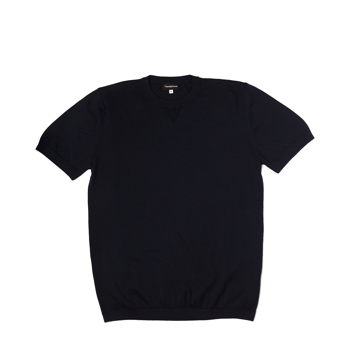 Timothy Everest Navy Lightweight Cotton/Cashmere Knitted Tee