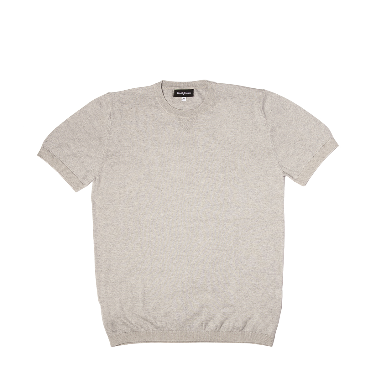 Timothy Everest Grey Lightweight Cotton/Cashmere Knitted Tee