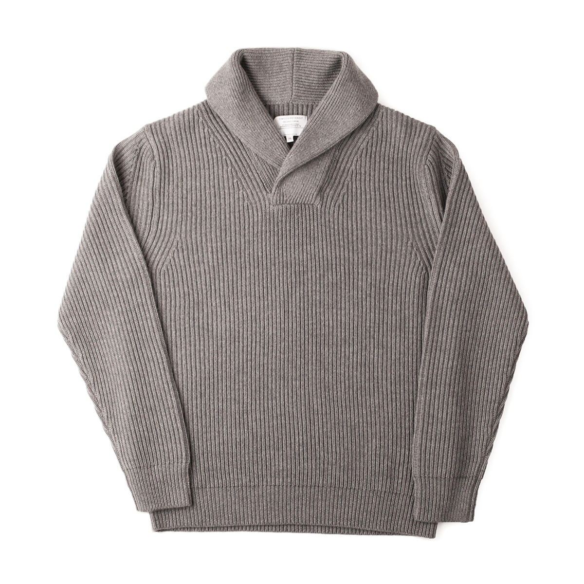Timothy Everest Light Grey Shawl Neck Jumper