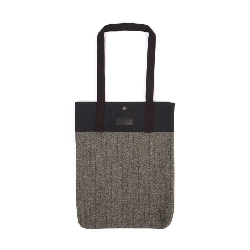 Timothy Everest Grey Stripe Harris Tweed Tote Bag