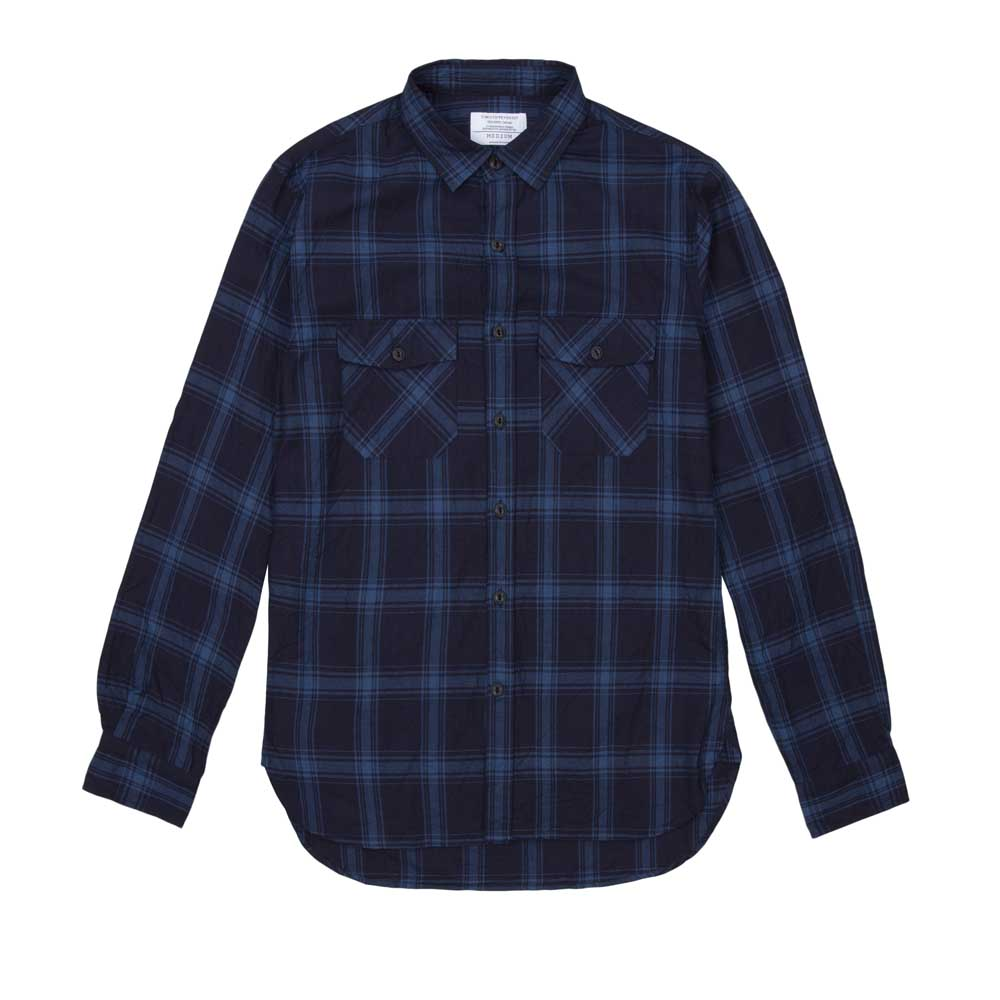 Timothy Everest Navy Check Work Overshirt