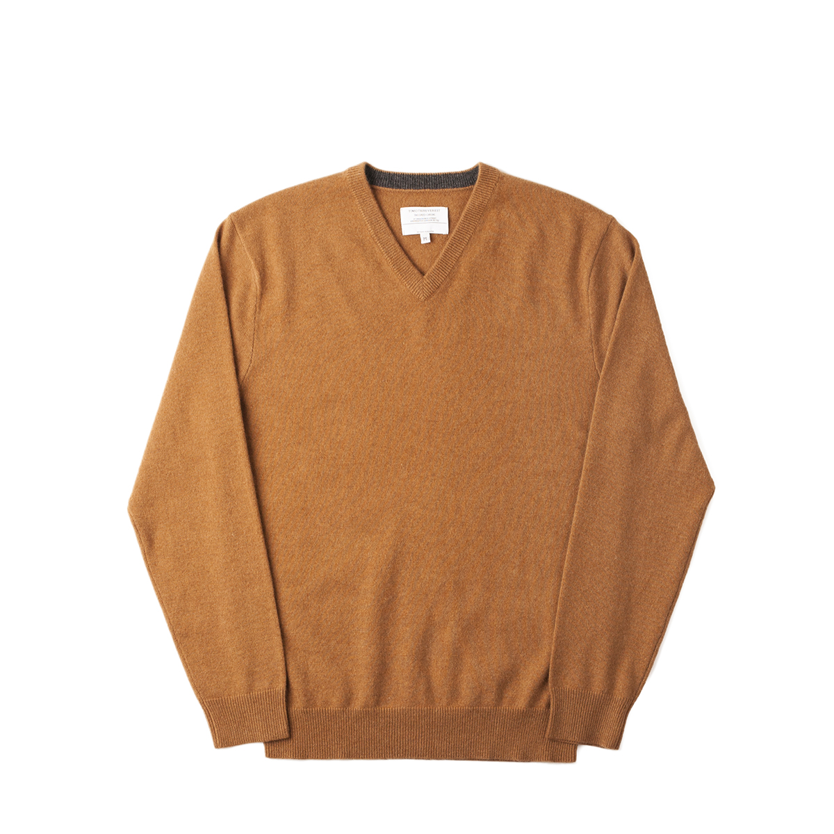 Timothy Everest Camel Cashmere V-Neck