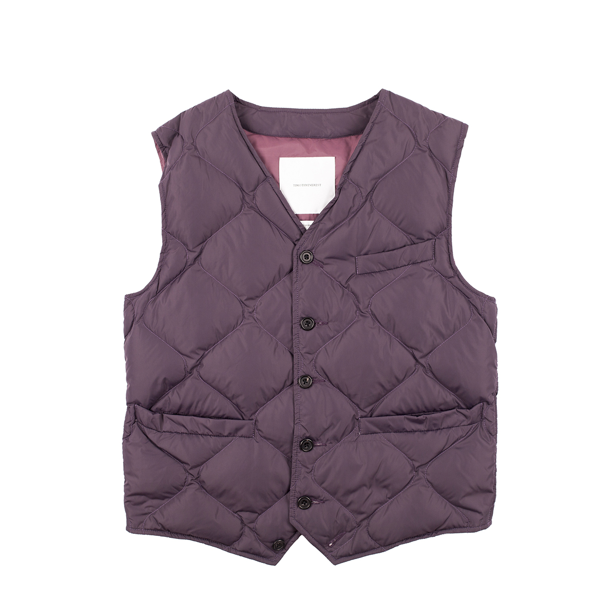 Timothy Everest Plum Down Quilted Waistcoat
