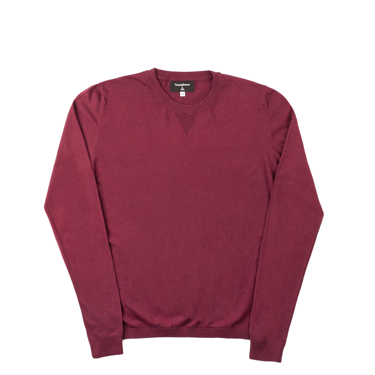 Timothy Everest Burgundy Lightweight Cotton/Cashmere Jumper