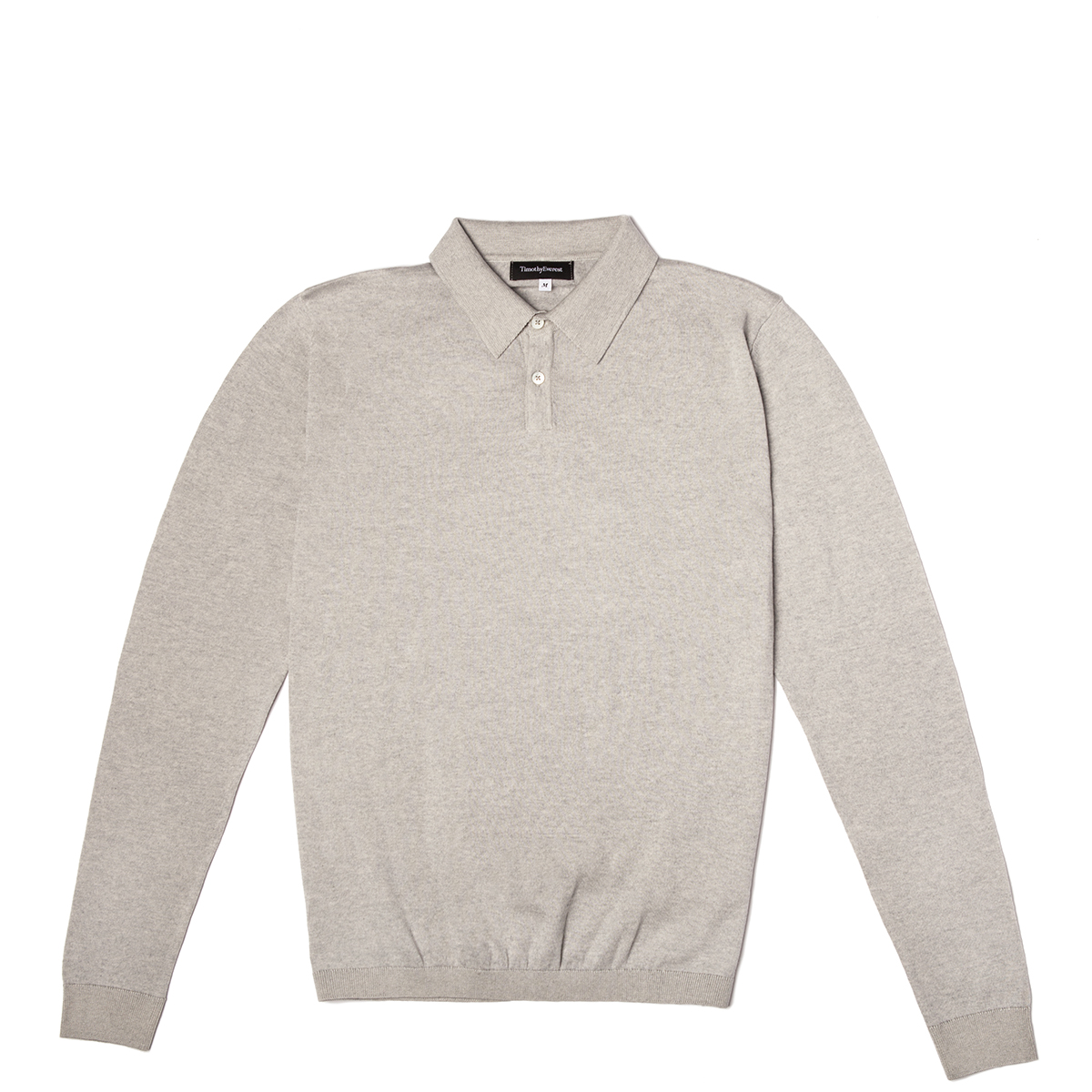 Timothy Everest Grey Lightweight Cotton/Cashmere Knitted Polo Shirt