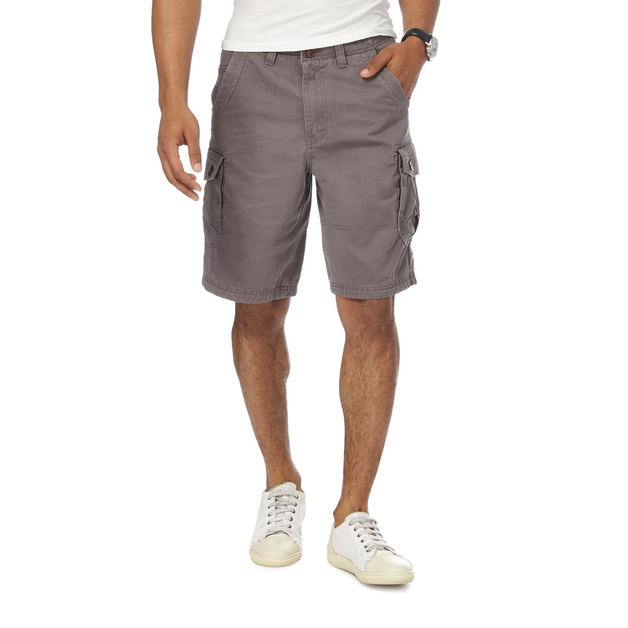 Mantaray Dark Grey Dark grey cargo shorts
