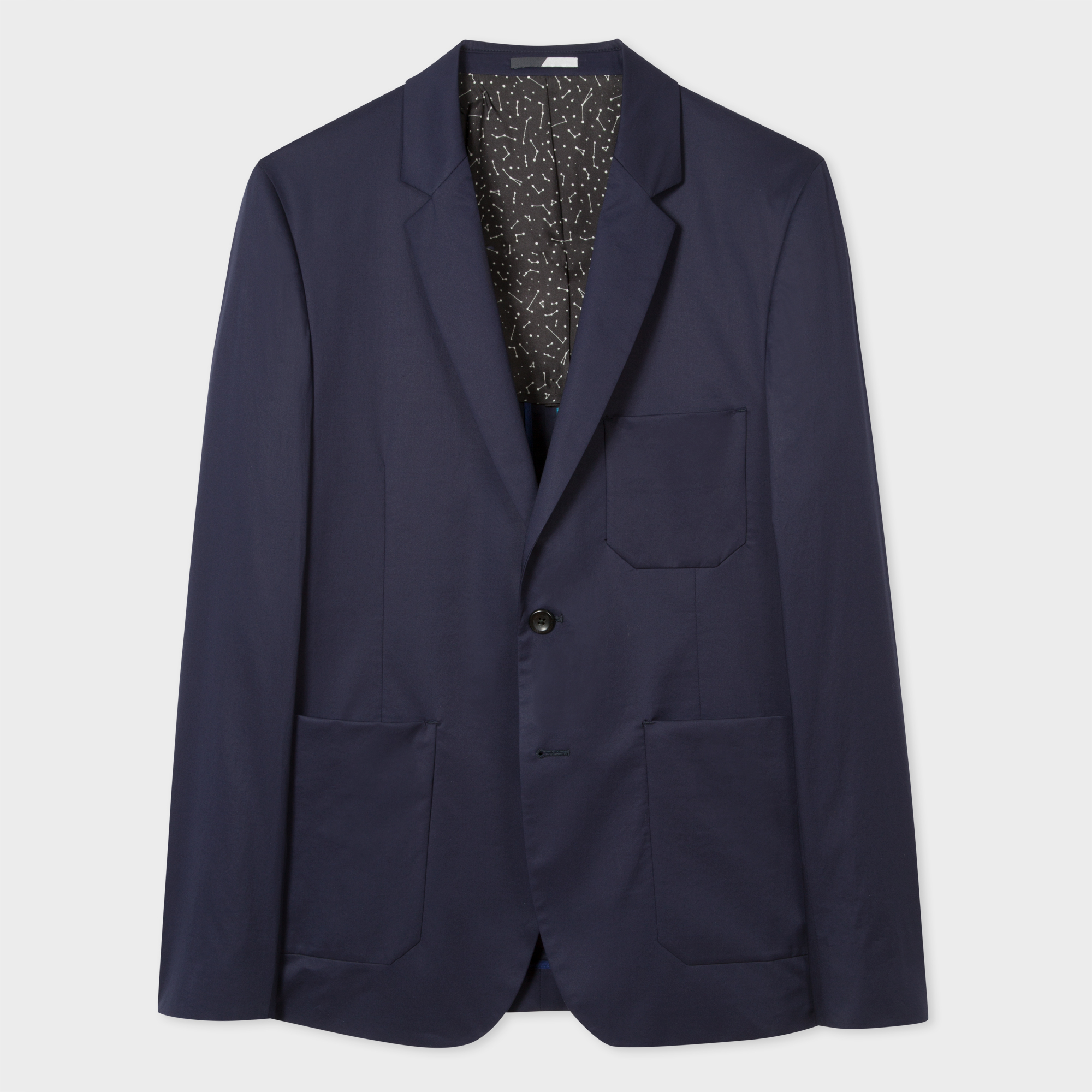 Paul Smith Men's Slim-Fit Navy Stretch-Cotton Buggy-Lined Blazer