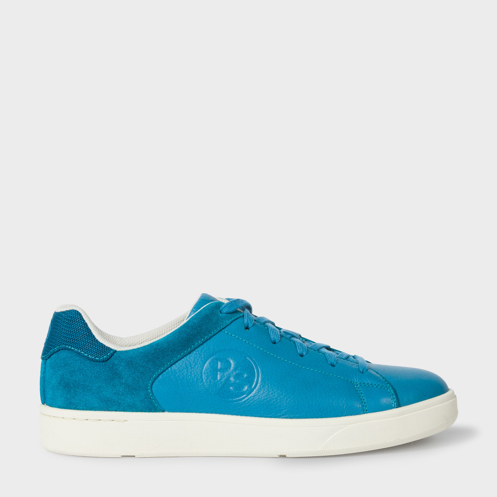 Paul Smith Men's Teal Leather And Suede 'Serge' Trainers