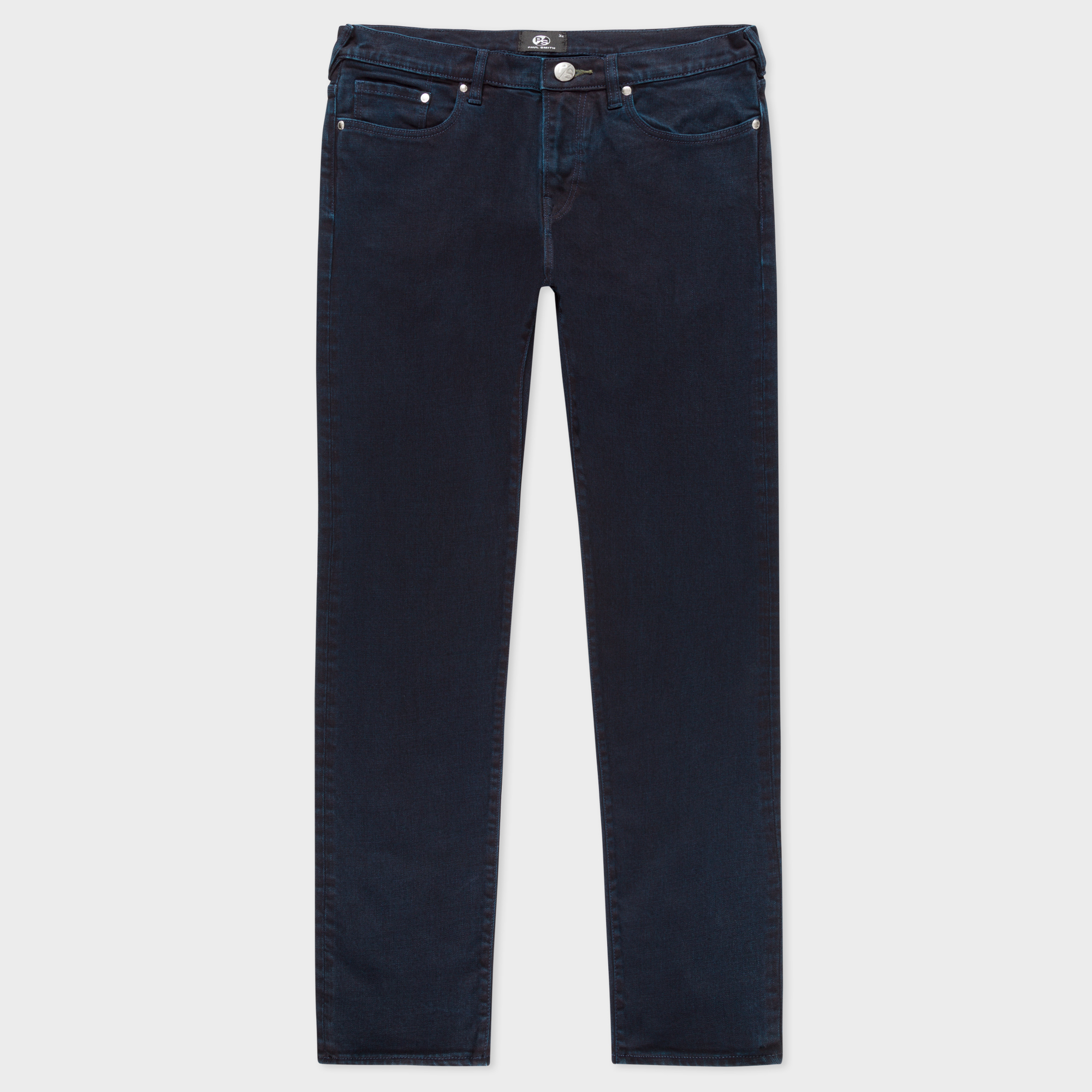 Paul Smith Men's Tapered-Fit Over-Dyed Wash Crosshatch Stretch-Denim Jeans