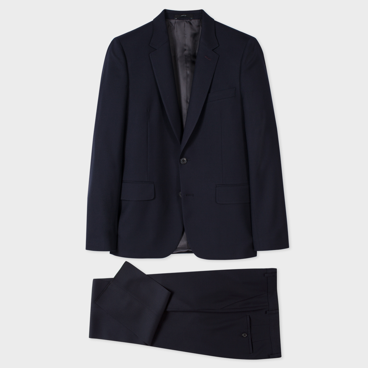 Paul Smith The Soho - Men's Tailored-Fit Navy Wool 'Suit To Travel In'