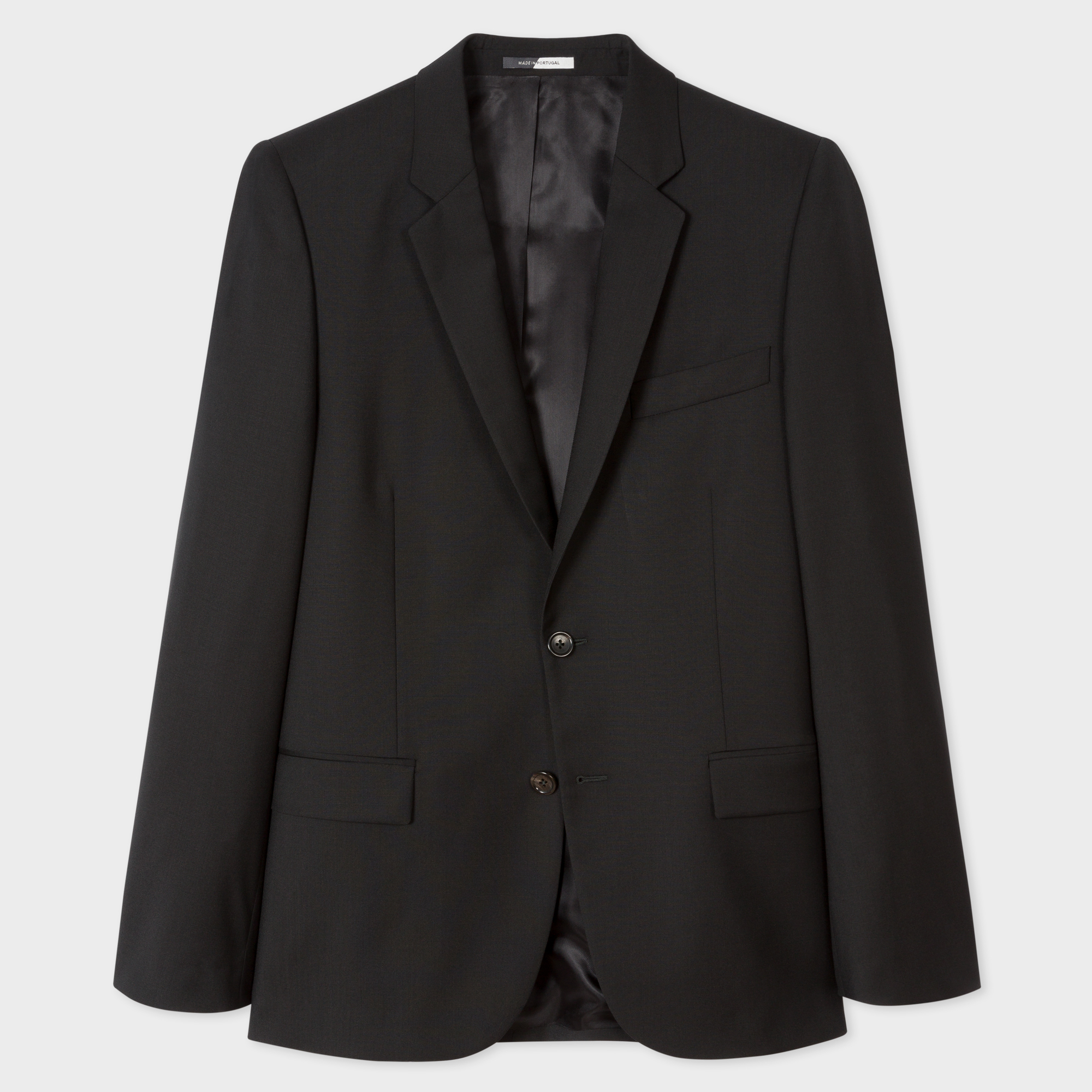 Paul Smith Men's Mid-Fit Black Wool Blazer