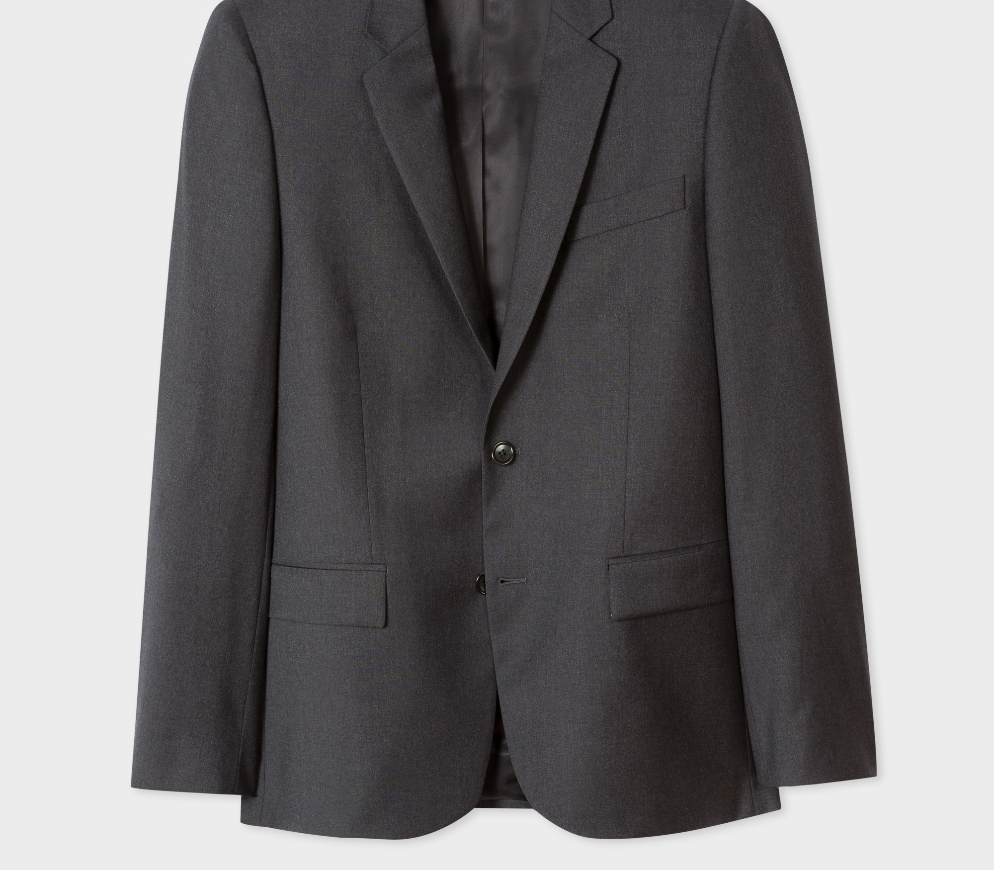 Paul Smith Men's Mid-Fit Charcoal Grey Wool Blazer