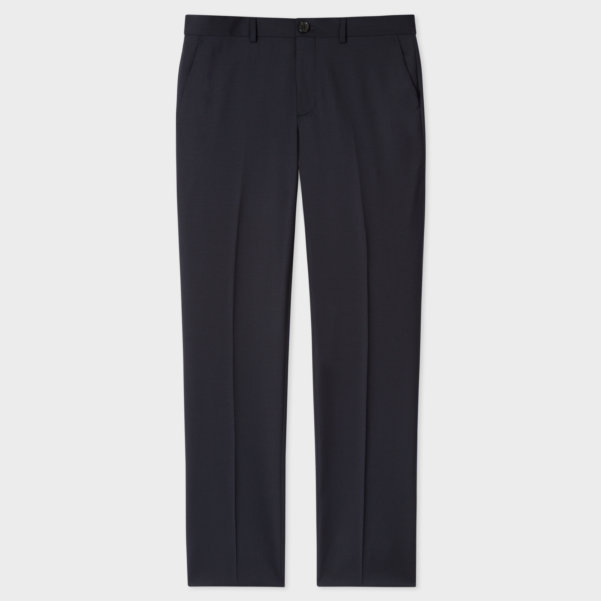 Paul Smith Men's Mid-Fit Navy Wool Trousers