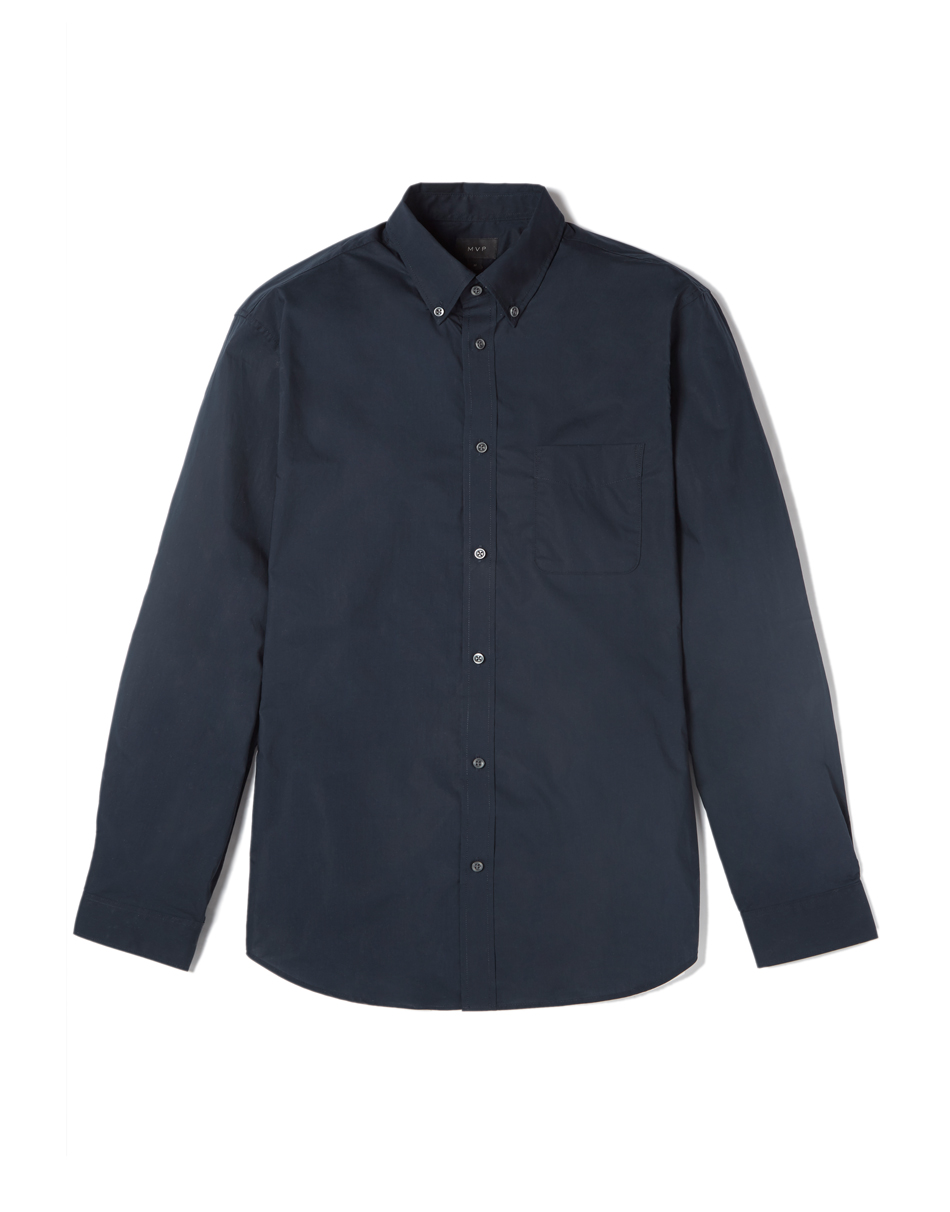 MVP Tillman Poplin Slim Fit Shirt - Navy