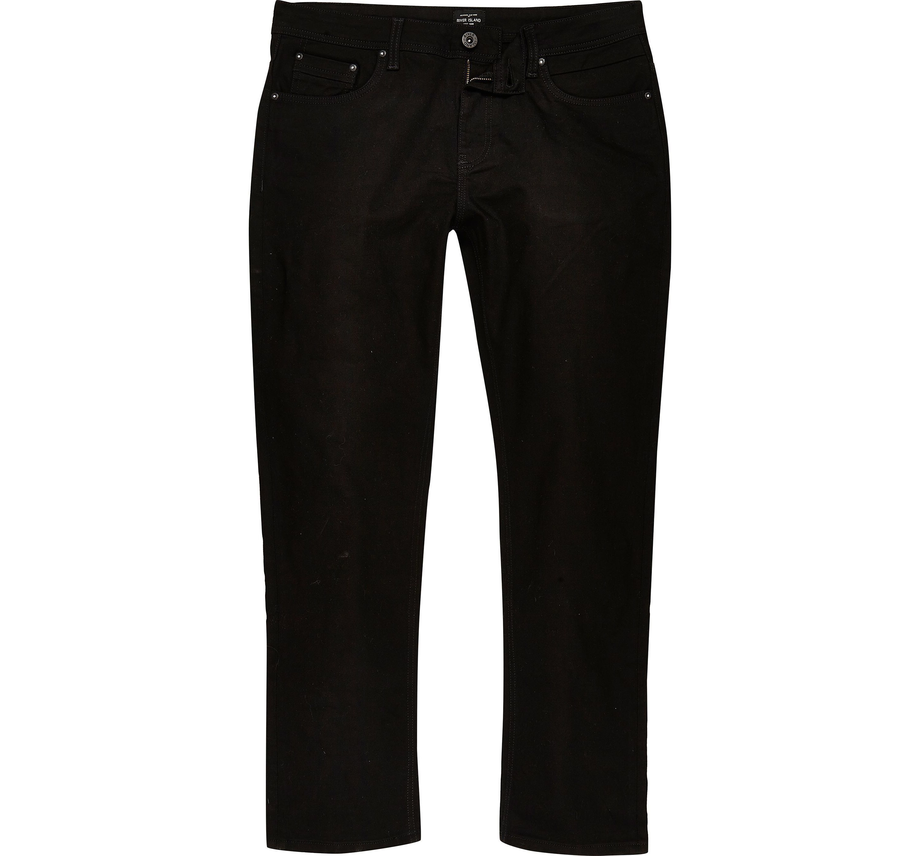 River Island Mens Big and Tall Black Dean straight leg jeans