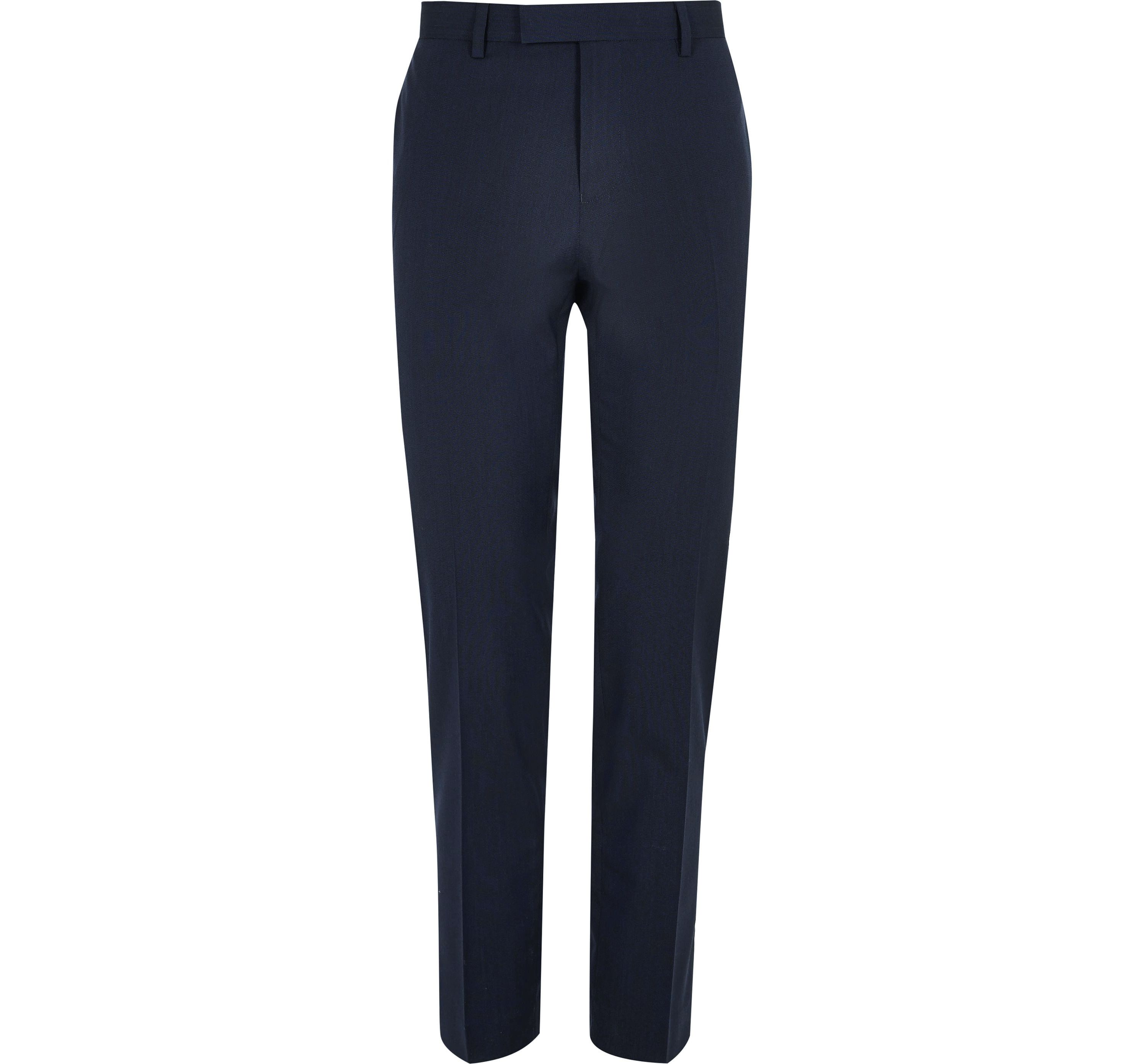 River Island Mens Dark Blue skinny fit suit trousers