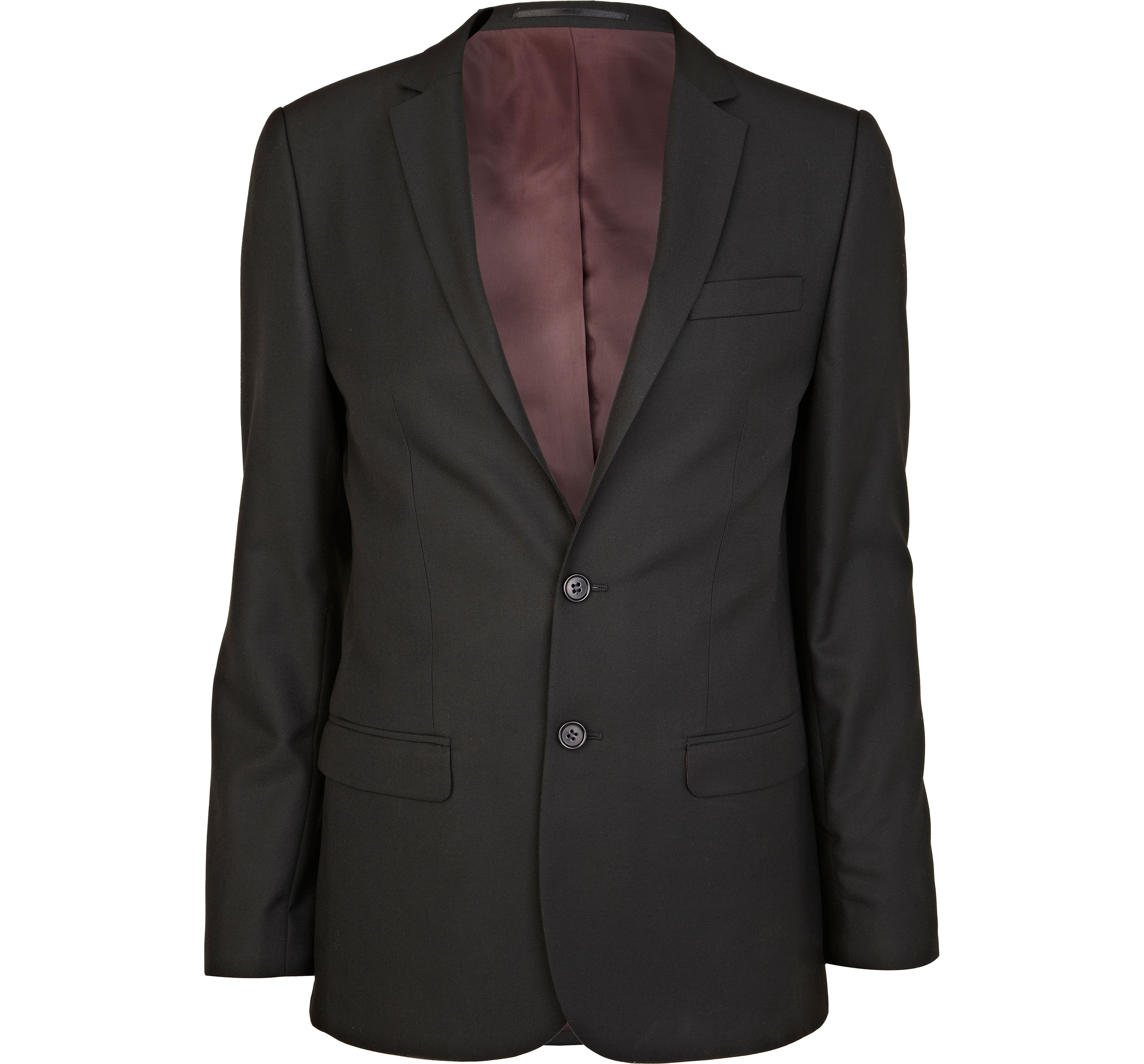 River Island Mens Black smart woven skinny suit jacket