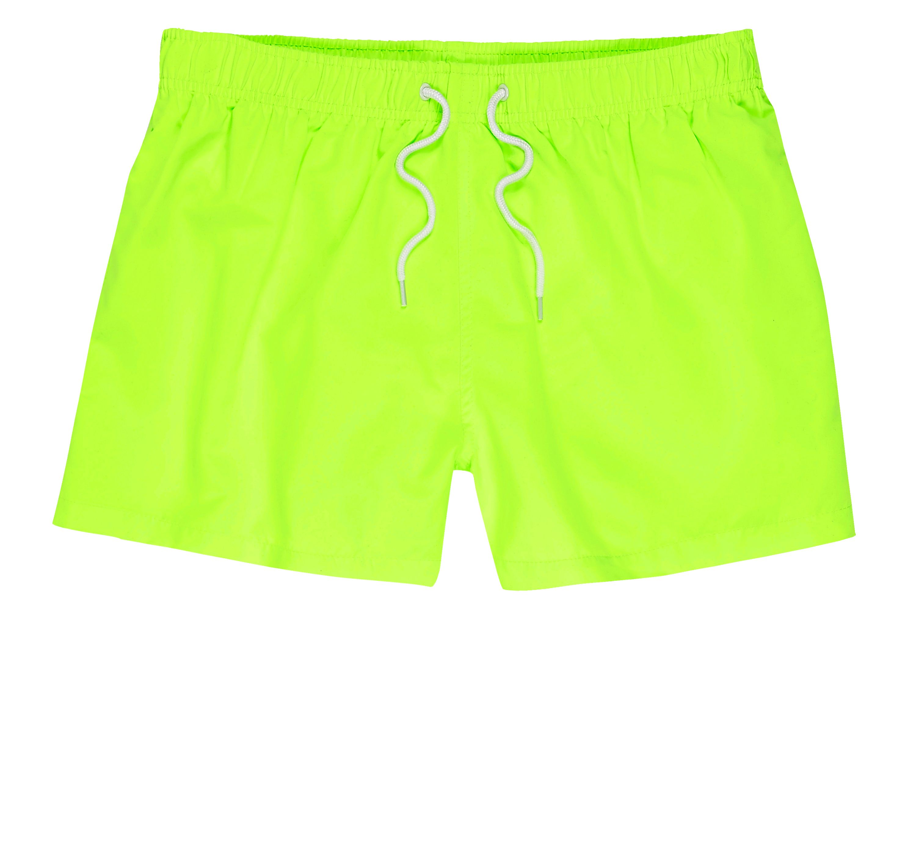 River Island Mens Green fluro swim shorts
