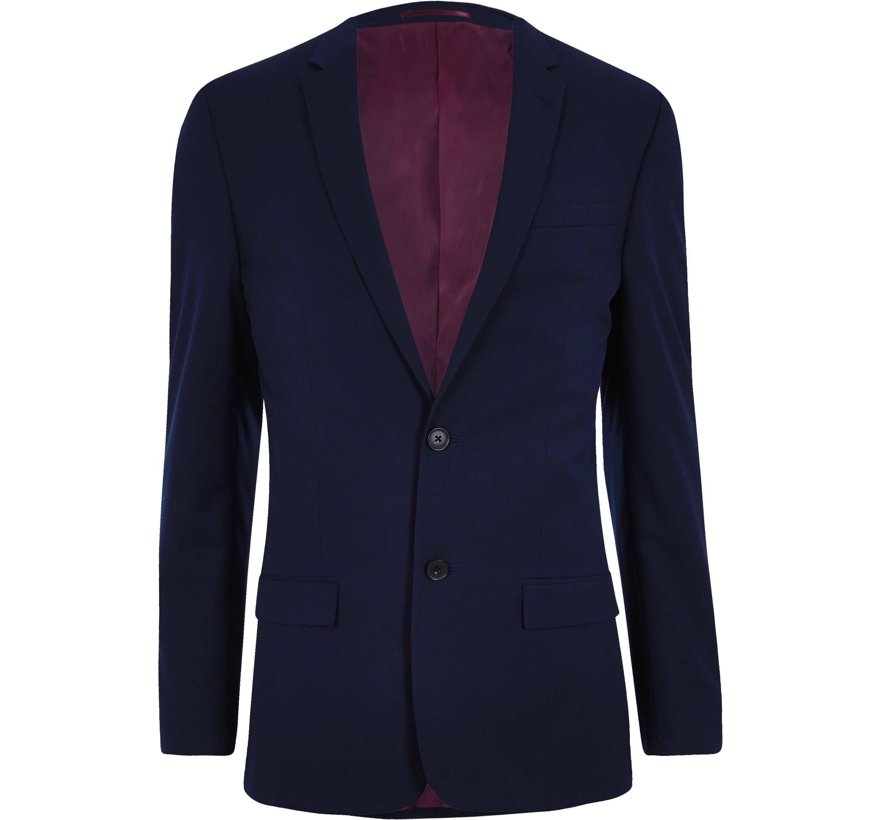 River Island Mens Navy slim fit suit jacket