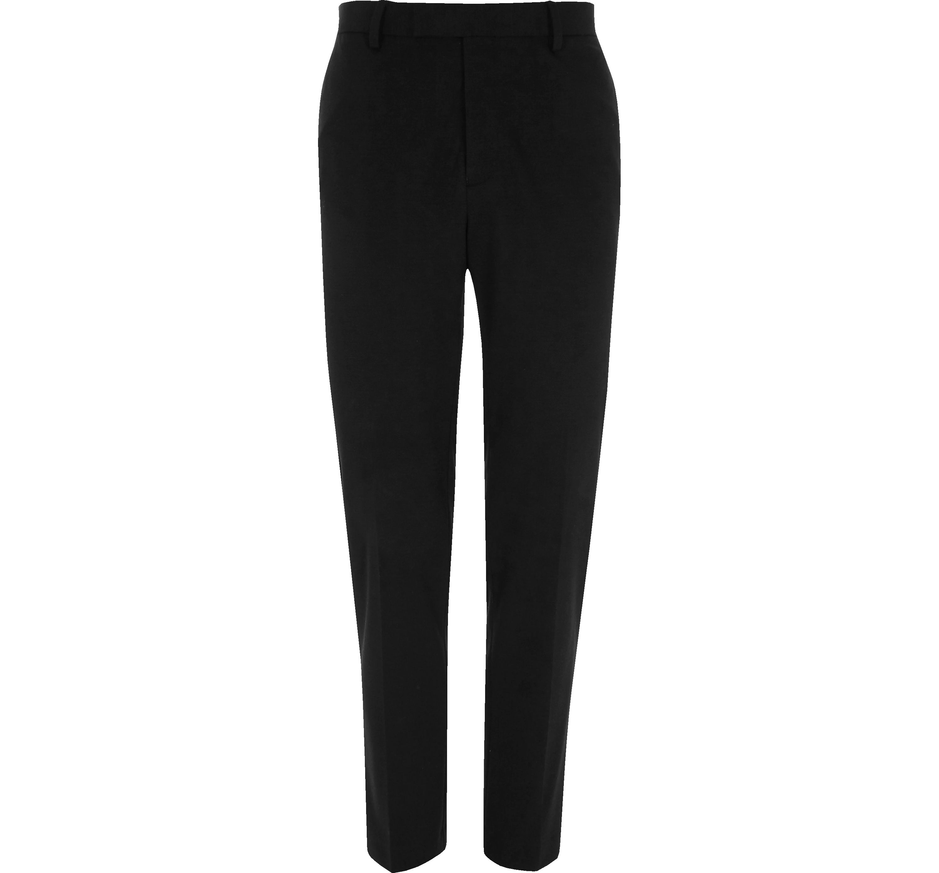River Island Mens Black jersey skinny fit trousers
