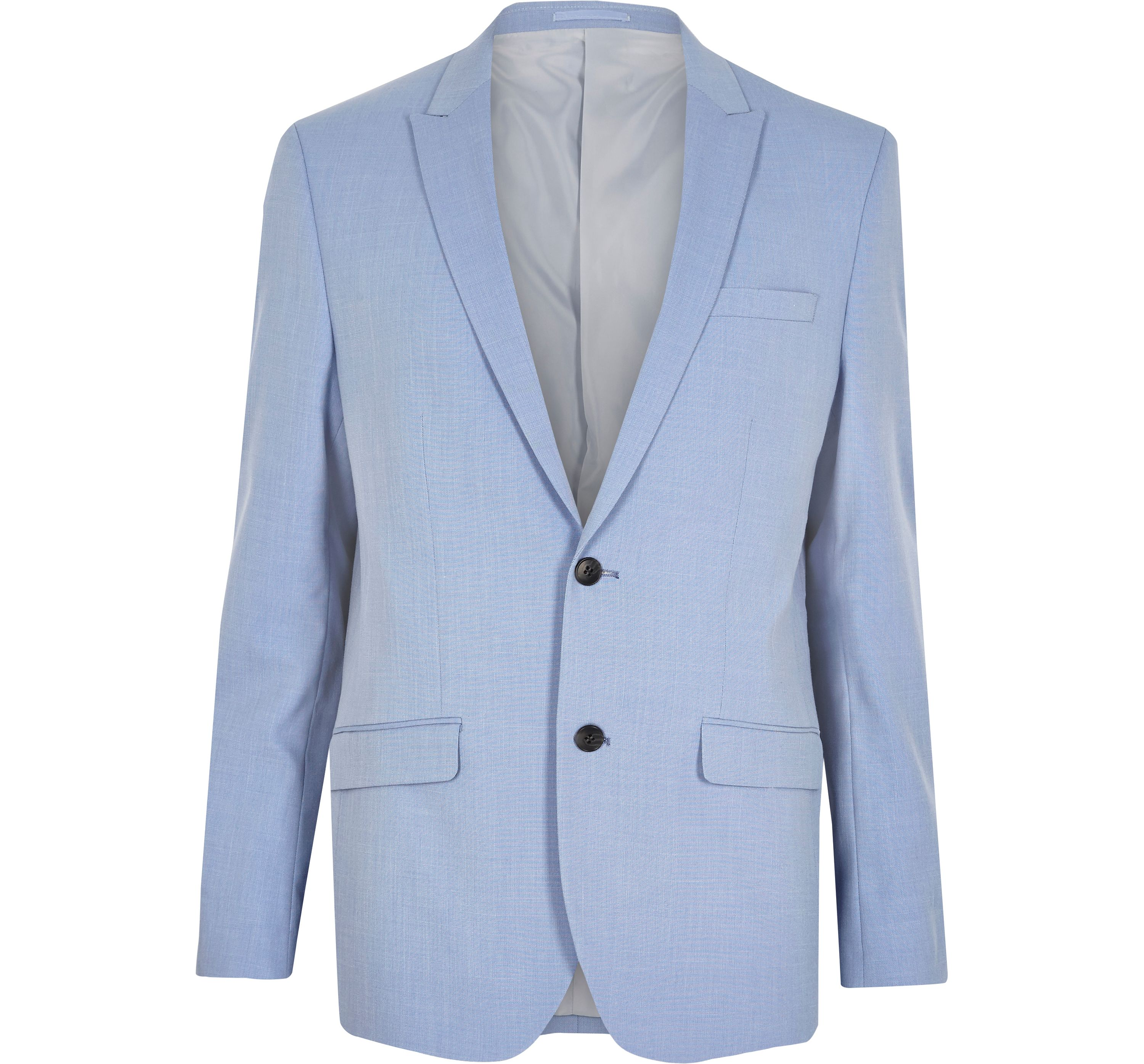 River Island Mens Blue slim fit suit jacket