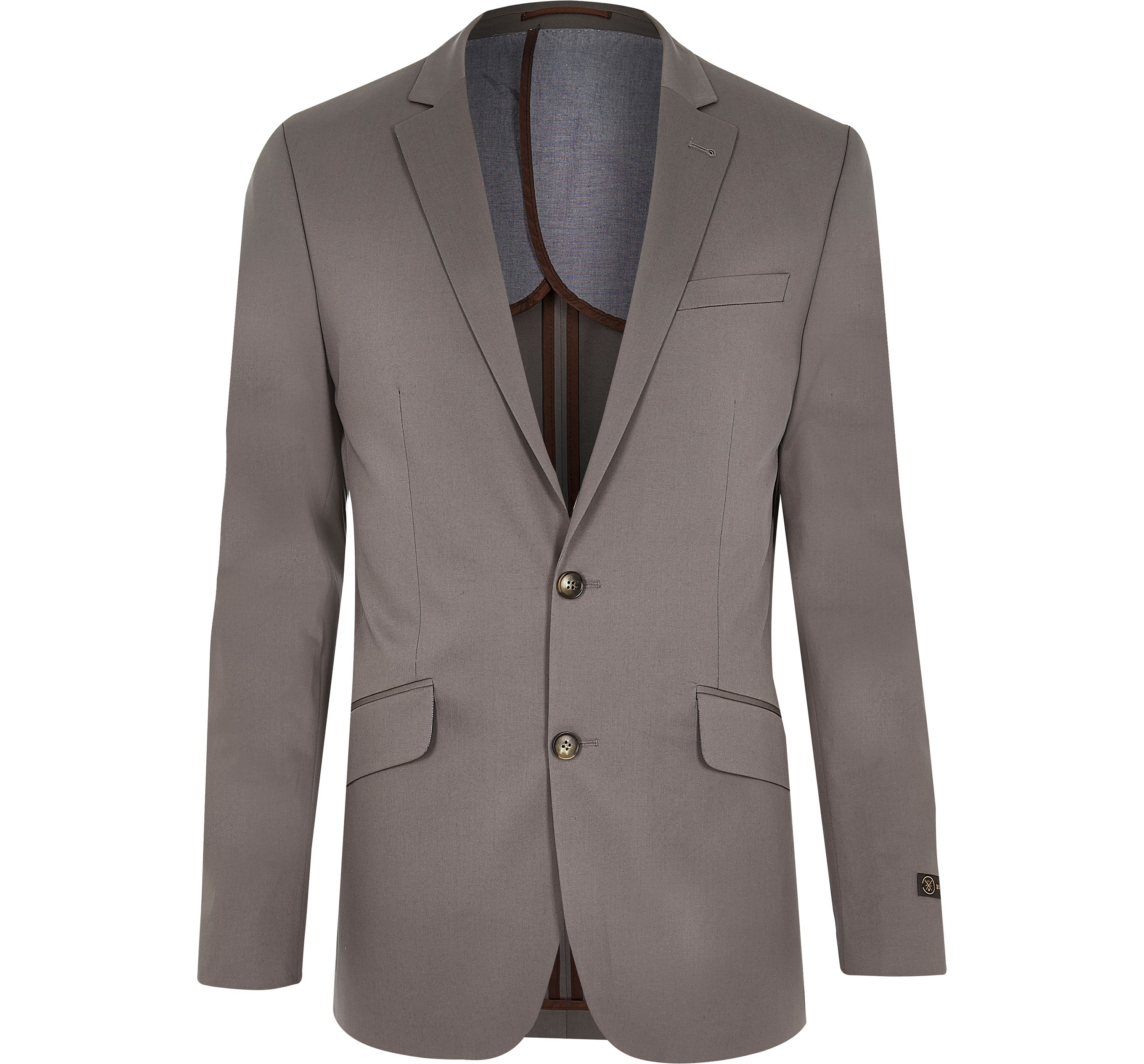 River Island Mens Grey slim suit jacket