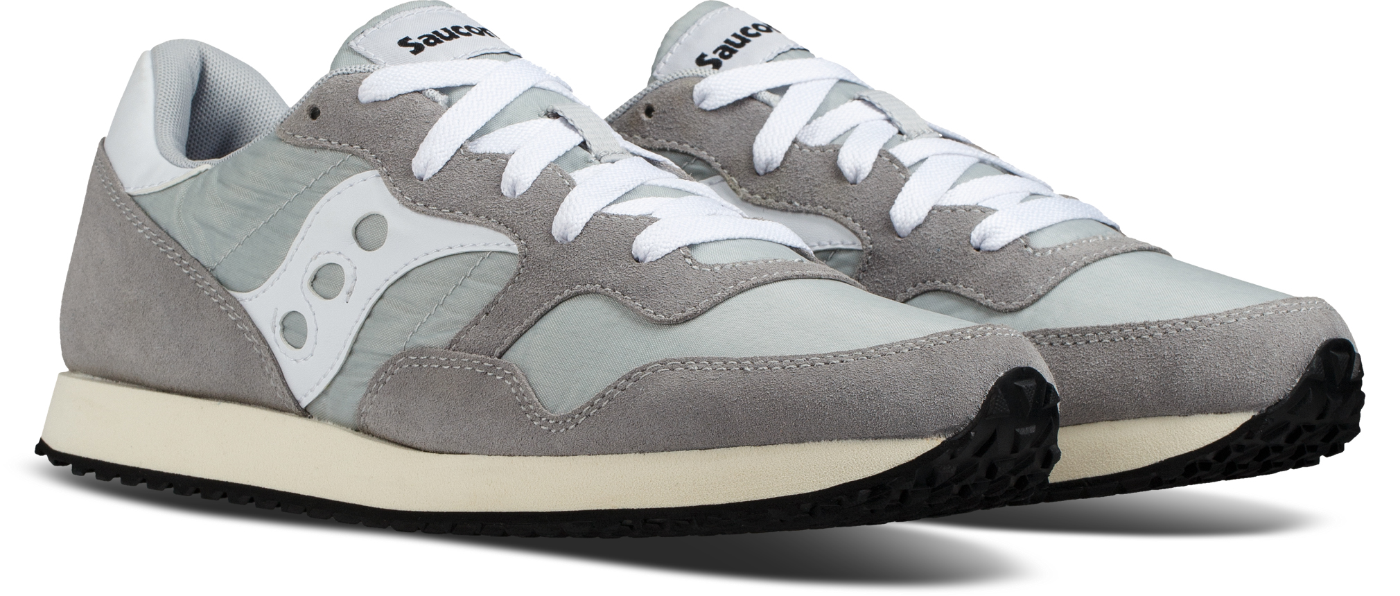 Saucony GREY/WHITE DXN Vintage Trainers
