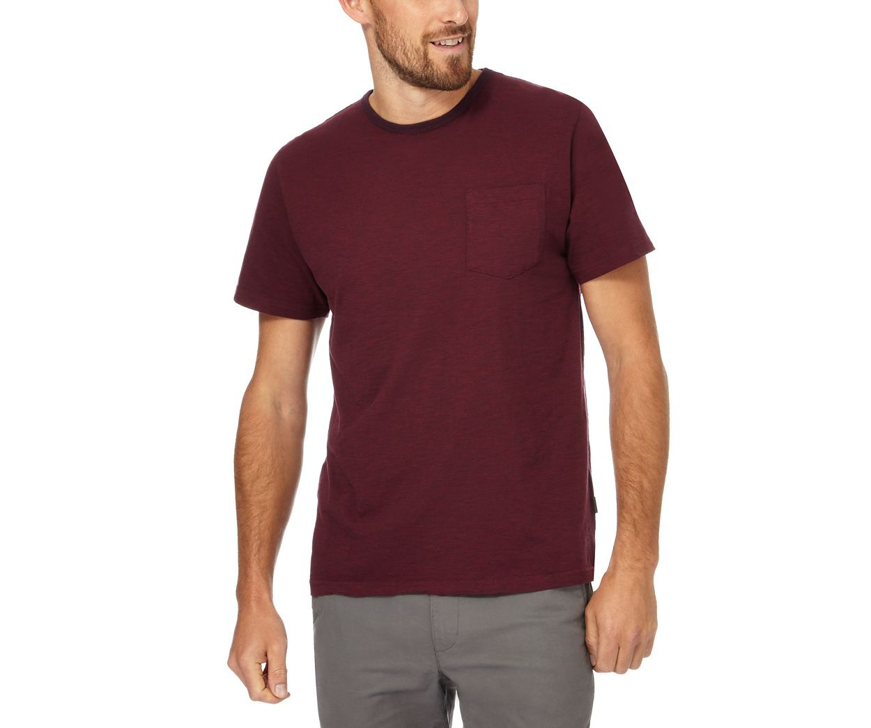 Racing Green Wine striped pocket t-shirt